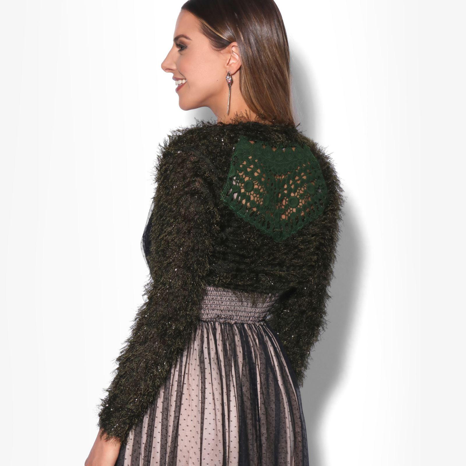 KRISP-Damen-Bolero-Jacke-Kurzes-Jaeckchen-Elegante-Schulterjacke-Blazer-Frauen Indexbild 5