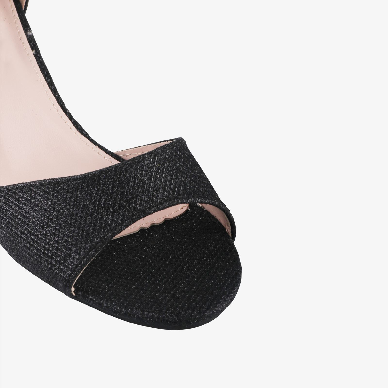 Women-Ladies-Low-Kitten-Heel-Court-Shoes-Open-Toe-Glitter-Sandals-Party-Bridal thumbnail 6
