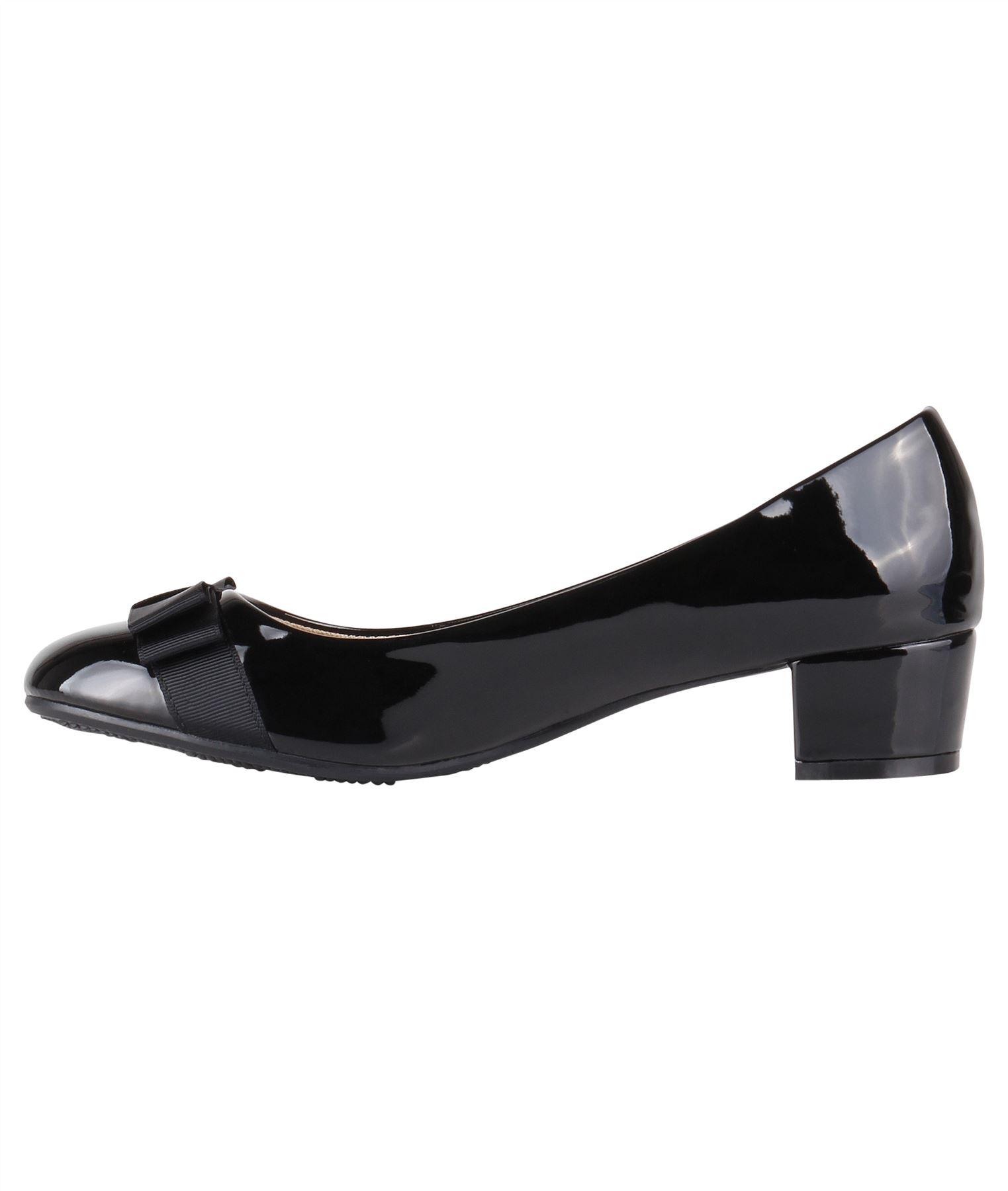 Damen-Elegante-Absatzschuhe-Hochlganz-Pumps-Blockabsatz-Ballerina-Schuhe-Chic Indexbild 26