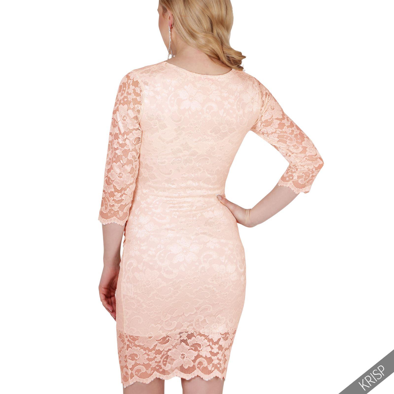Maternity Retro Lace Stretch Bodycon Pregnancy Midi Dress Party ...