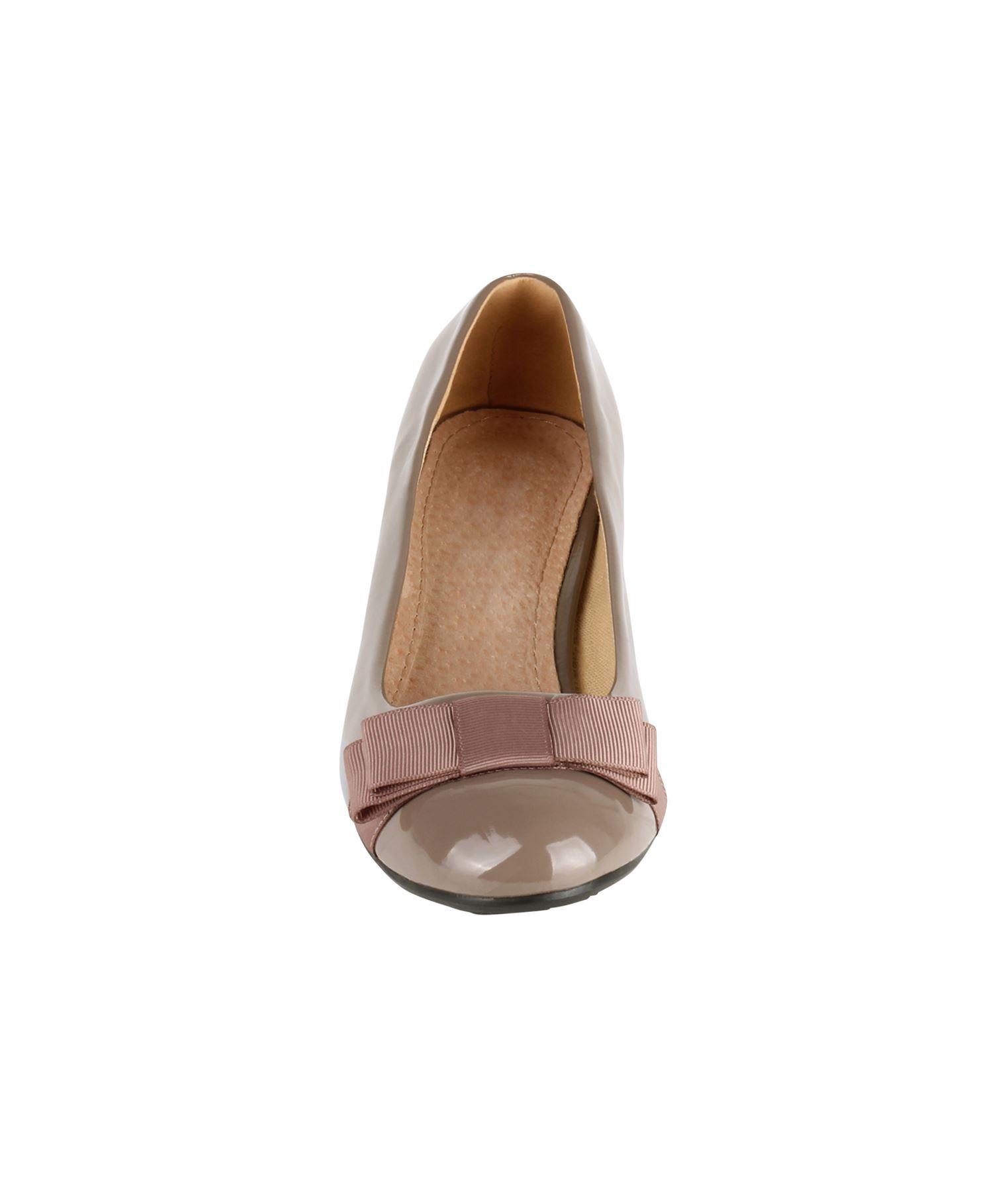 Damen-Elegante-Absatzschuhe-Hochlganz-Pumps-Blockabsatz-Ballerina-Schuhe-Chic Indexbild 14