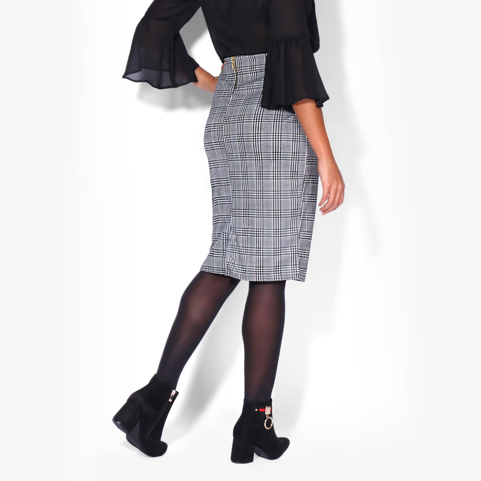 Womens-Ladies-Pencil-Midi-Skirt-Stretch-Fitted-Belt-Bodycon-Office-Work-8-20 thumbnail 9