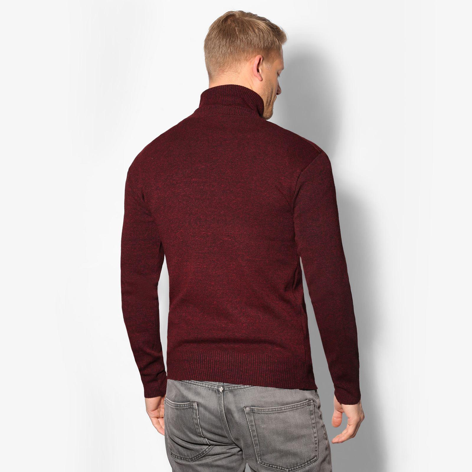 Jersey-Hombre-Lana-Caliente-Barato-Cuello-Vuelto-Alto-Talla-Grande-Frio-Invierno miniatura 7