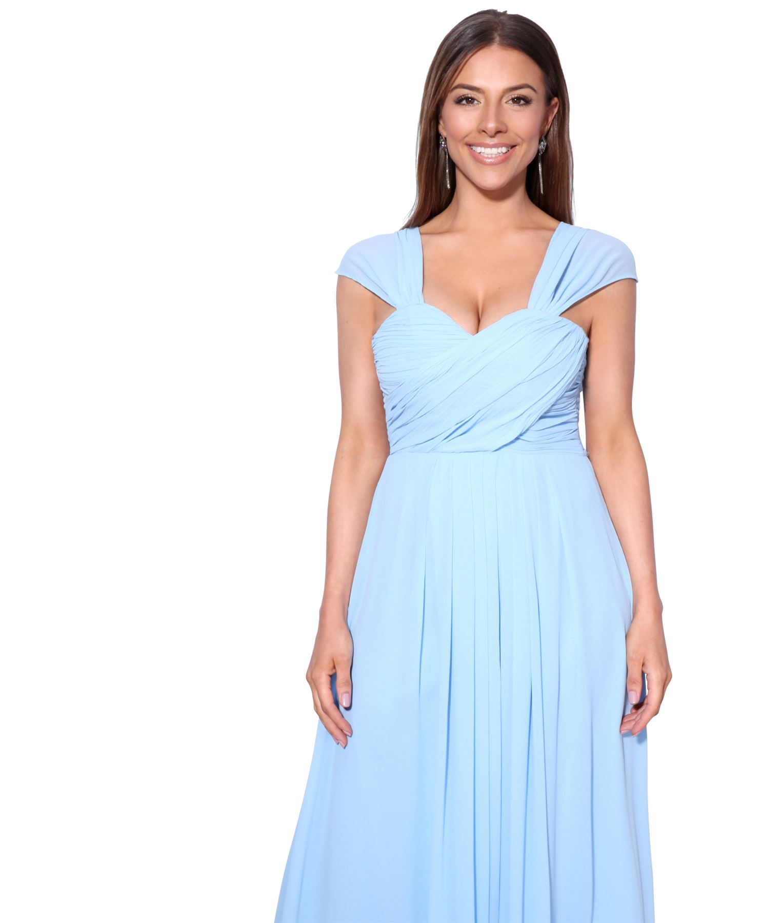 Womens-Formal-Evening-Wedding-Maxi-Prom-Dress-Long-On-Off-Shoulder-Ball-Gown thumbnail 4