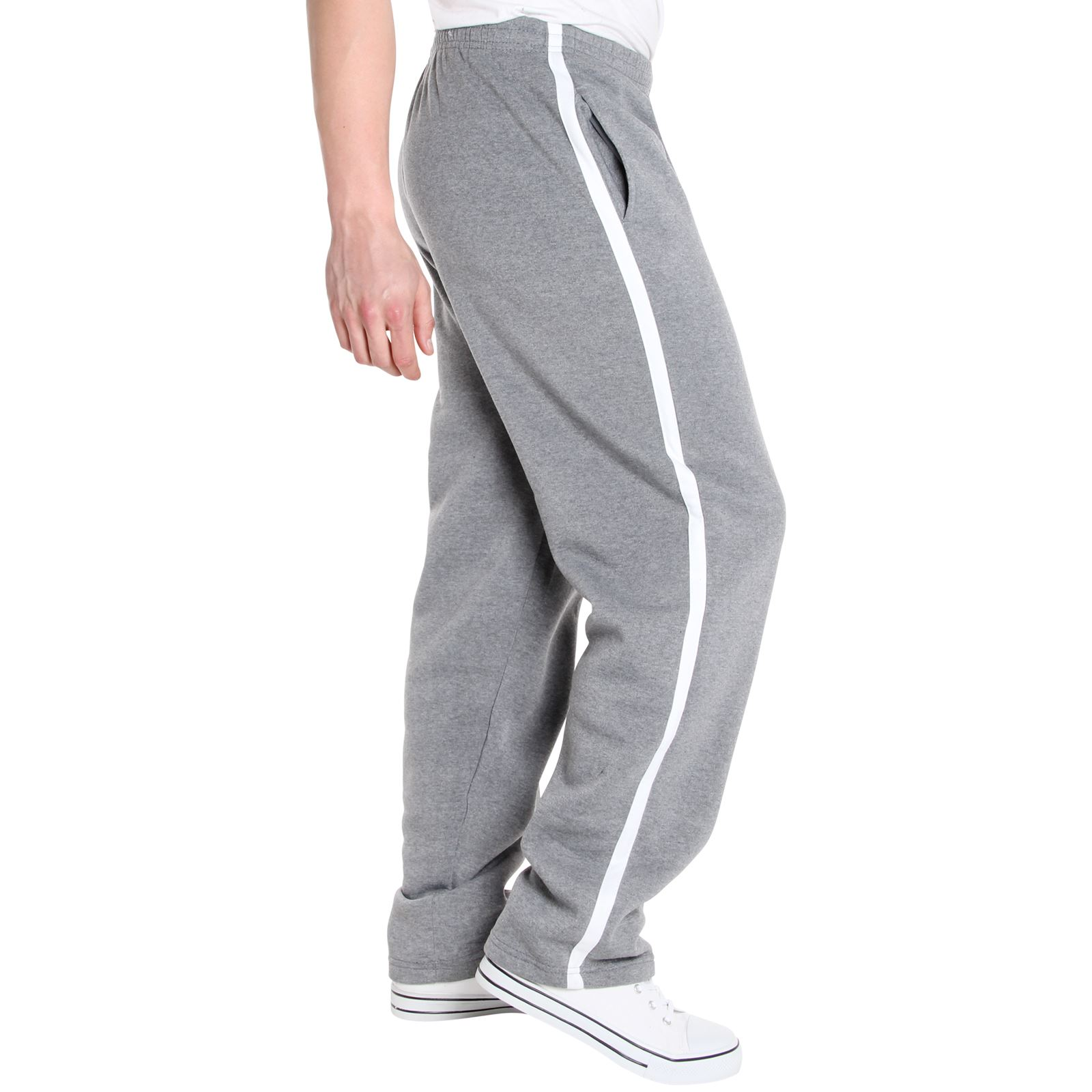 Mens-Tracksuit-Bottoms-Striped-Joggers-Jogging-Trousers-Fleece-Pants-Casual-Work thumbnail 18