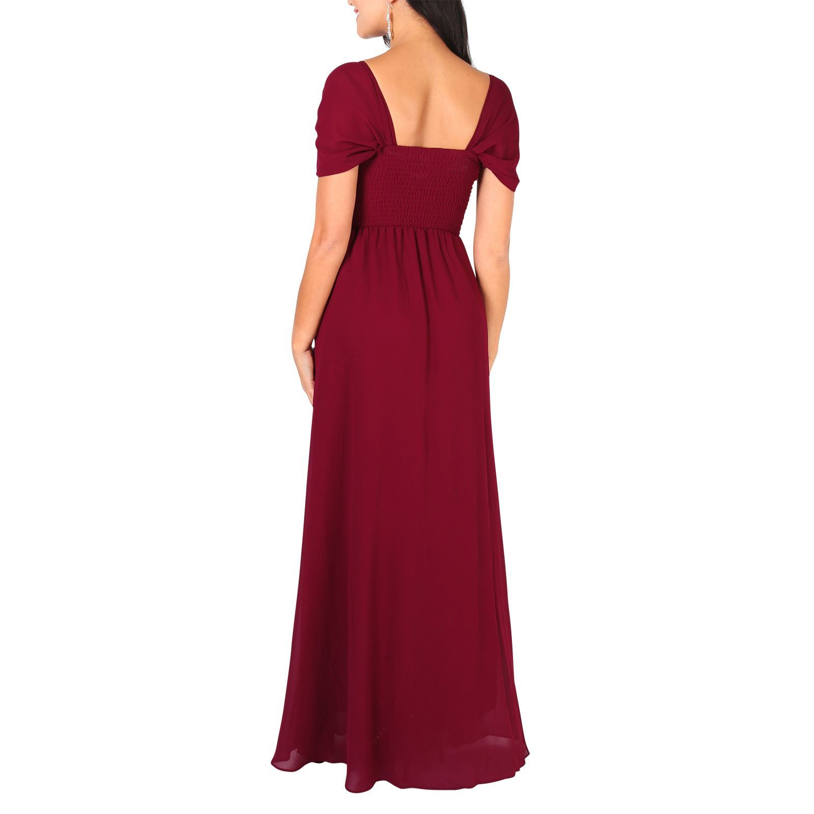 Womens-Formal-Evening-Wedding-Maxi-Prom-Dress-Long-On-Off-Shoulder-Ball-Gown thumbnail 66