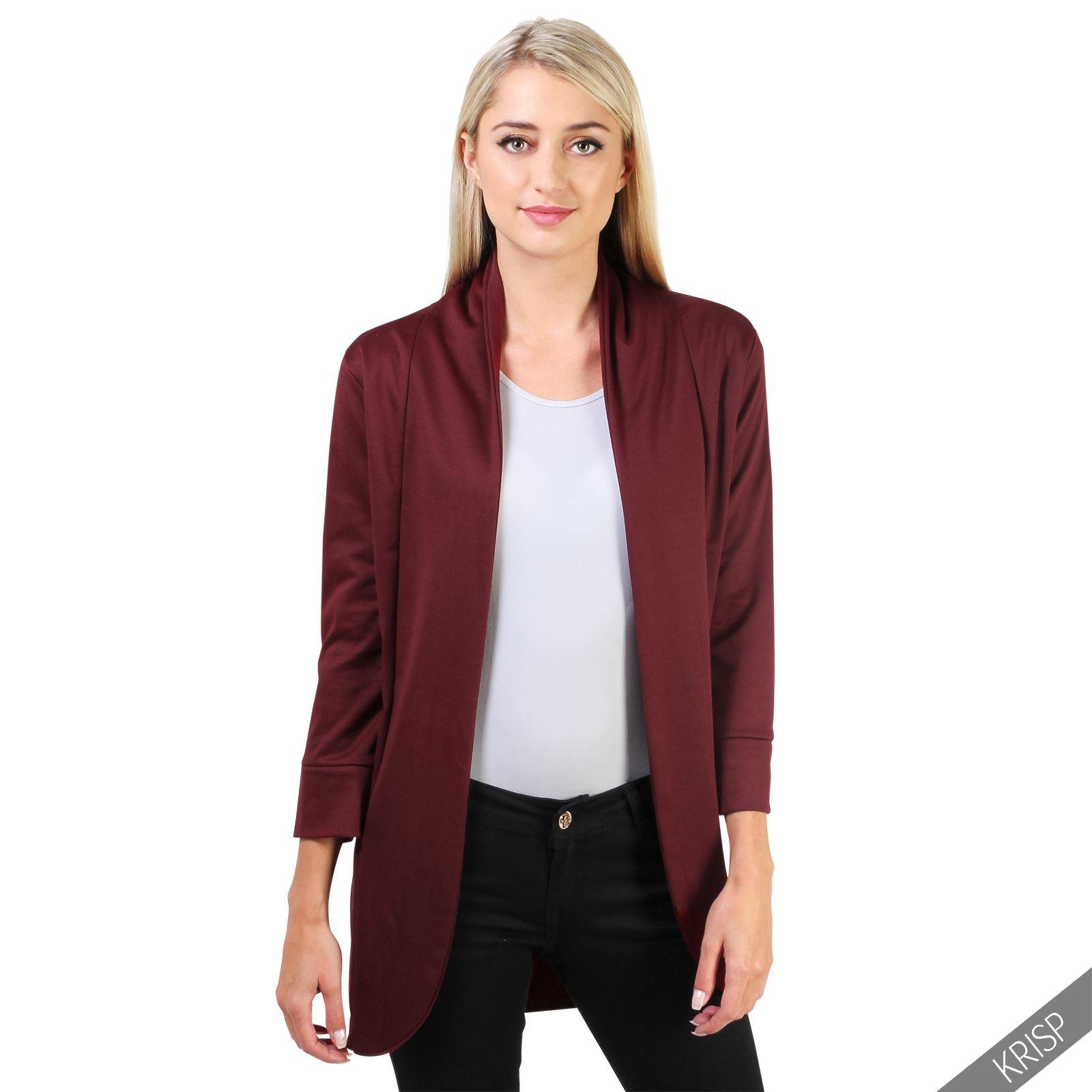 womens ladies oversize waterfall boyfriend open blazer cardigan jacket coat plus ebay. Black Bedroom Furniture Sets. Home Design Ideas