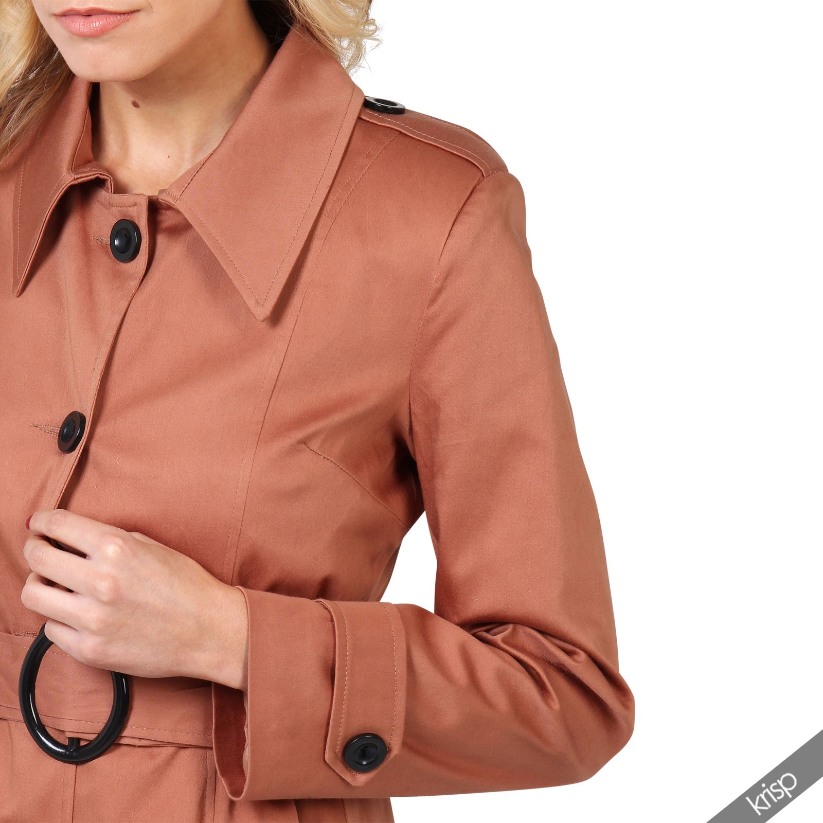 UK-Ladies-Classic-Asymmetric-Mac-Jacket-Womens-Military-Belted-Trench-Coat thumbnail 13