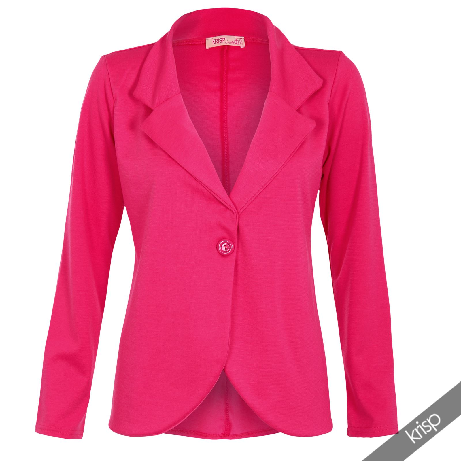 Womens-Jacket-Shrug-Casual-Blazer-Jersey-Smart-Suit-Ladies-Office-Evening-Coat thumbnail 15