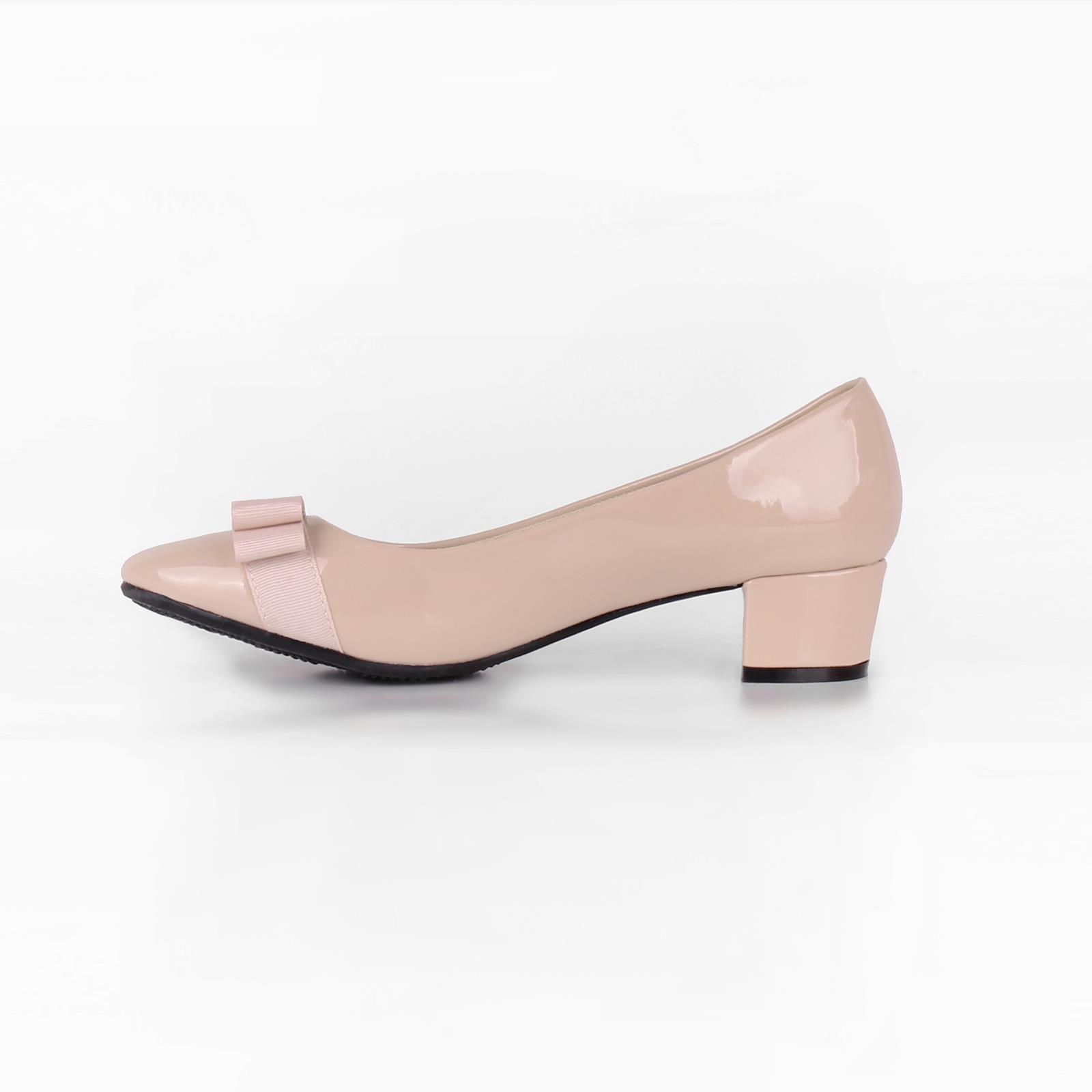 Damen-Elegante-Absatzschuhe-Hochlganz-Pumps-Blockabsatz-Ballerina-Schuhe-Chic Indexbild 36