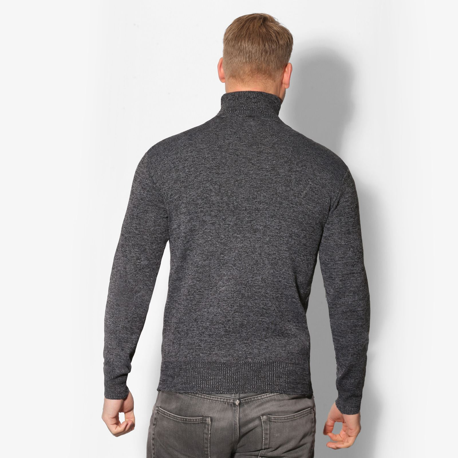 Mens-Turtle-Neck-Roll-Jumper-Sweater-Cotton-Knitwear-Winter-Pullover-Polo-Top thumbnail 11