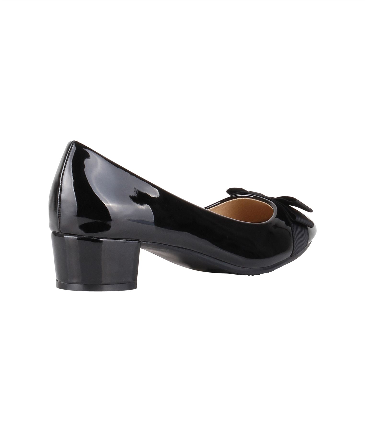 2541730bb4c Details about Womens Low Block Heel Court Shoes Bow Ladies Work Party  Ballerina Casual Pumps
