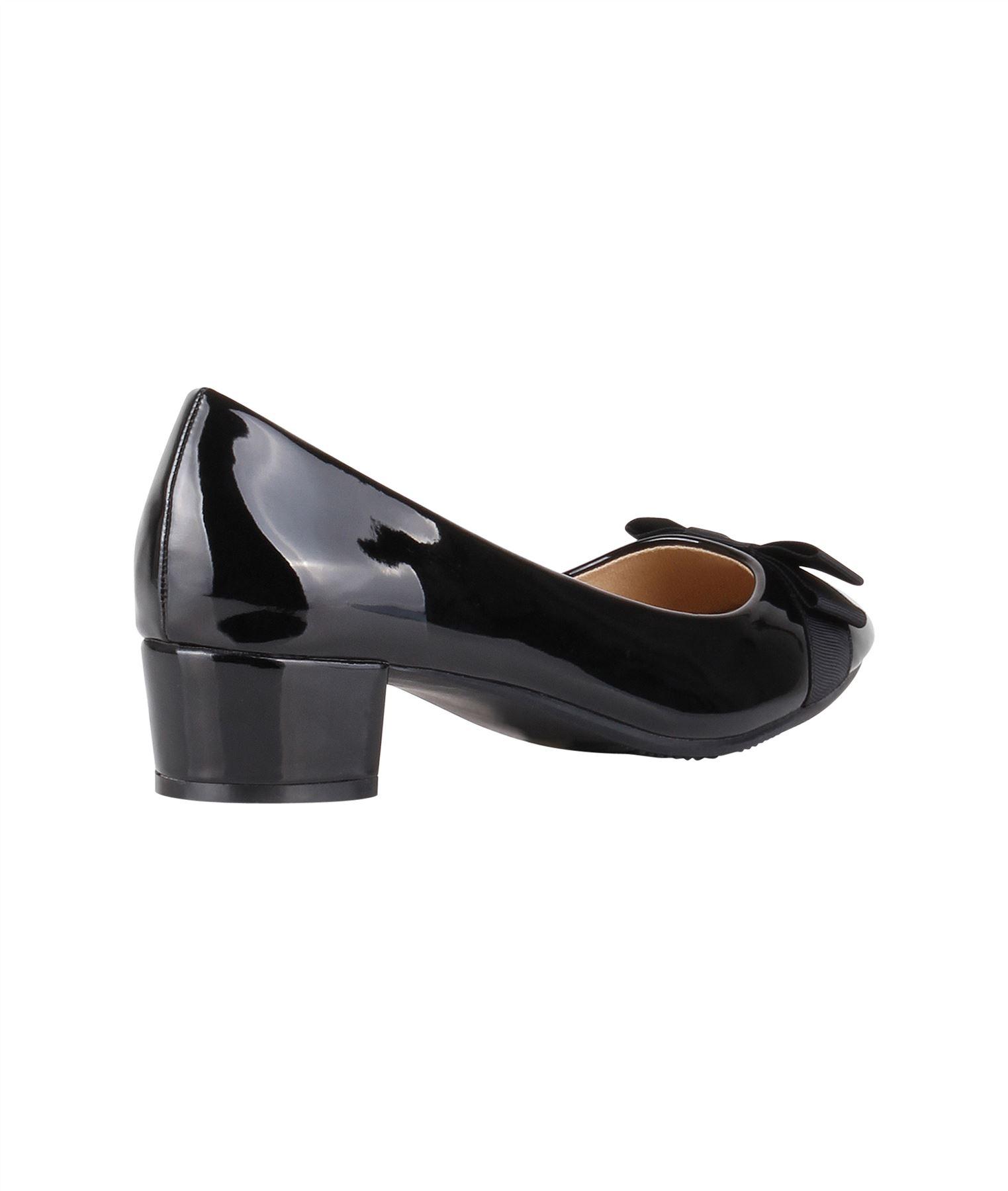 Damen-Elegante-Absatzschuhe-Hochlganz-Pumps-Blockabsatz-Ballerina-Schuhe-Chic Indexbild 25