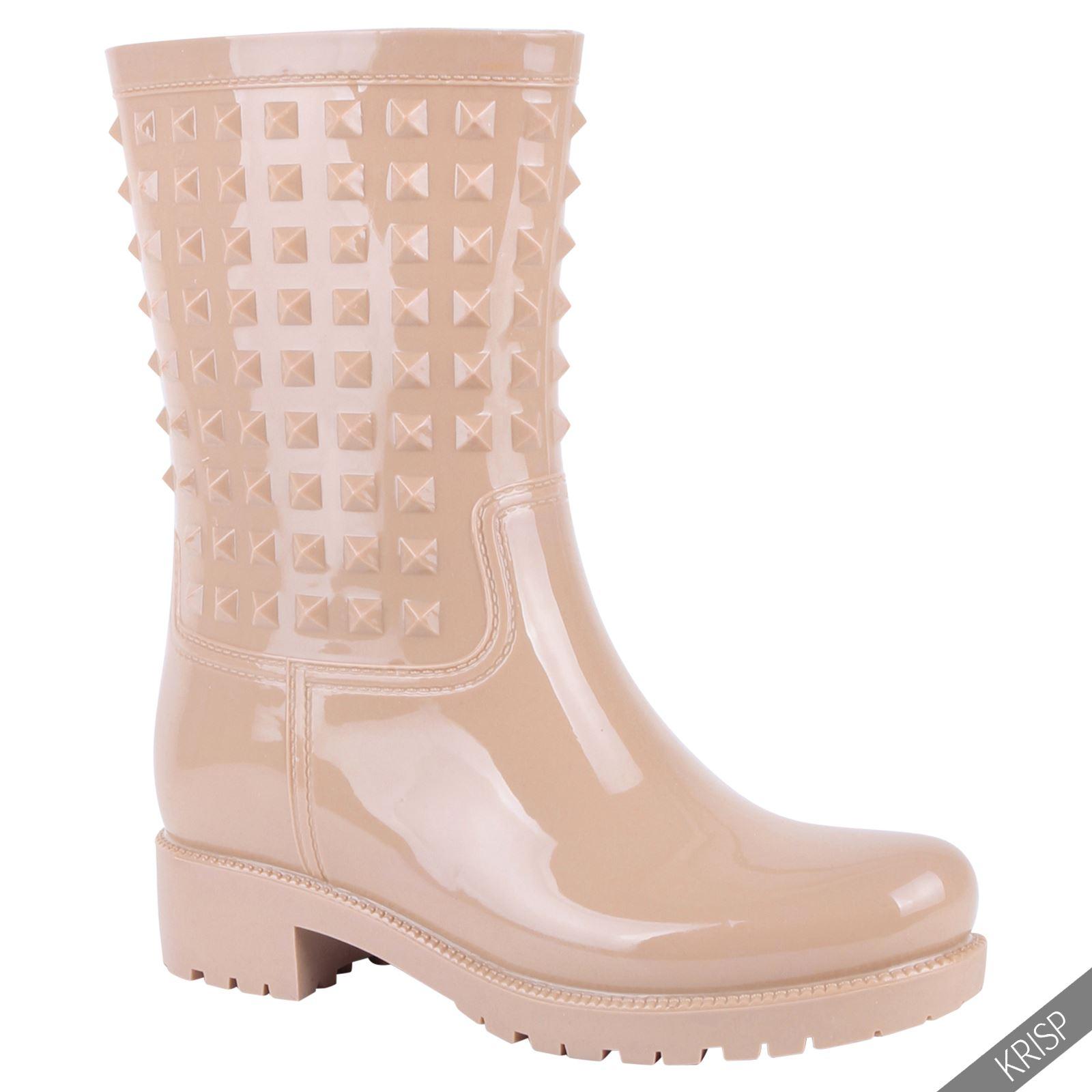 Botas-Agua-Mujer-Barata-Original-Botines-Moda-Comodas-Calzado-Elastico-Juveniles miniatura 11