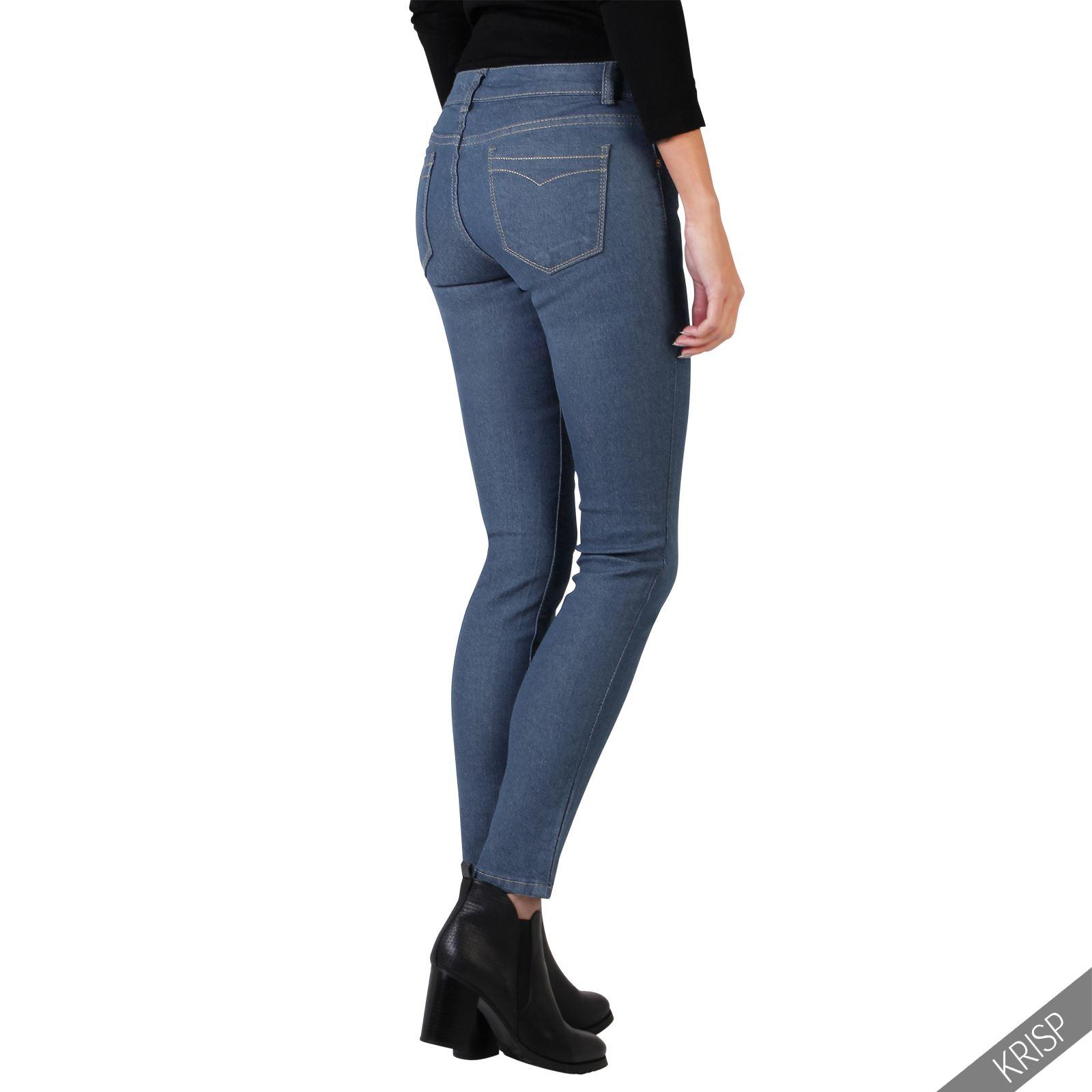 krisp london sale damen jeans stretch denim slim skinny g nstige jeans hosen. Black Bedroom Furniture Sets. Home Design Ideas