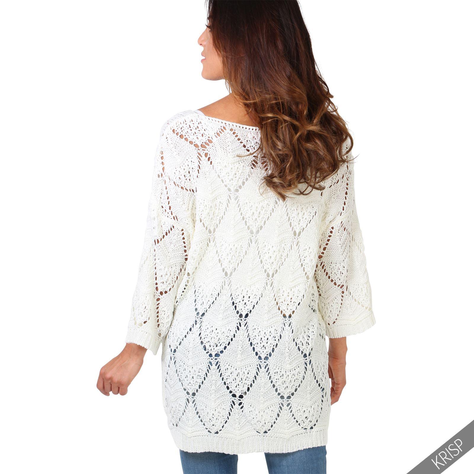 damen oversize strickpullover pullover pulli sweater lang grobmaschig plus size ebay. Black Bedroom Furniture Sets. Home Design Ideas