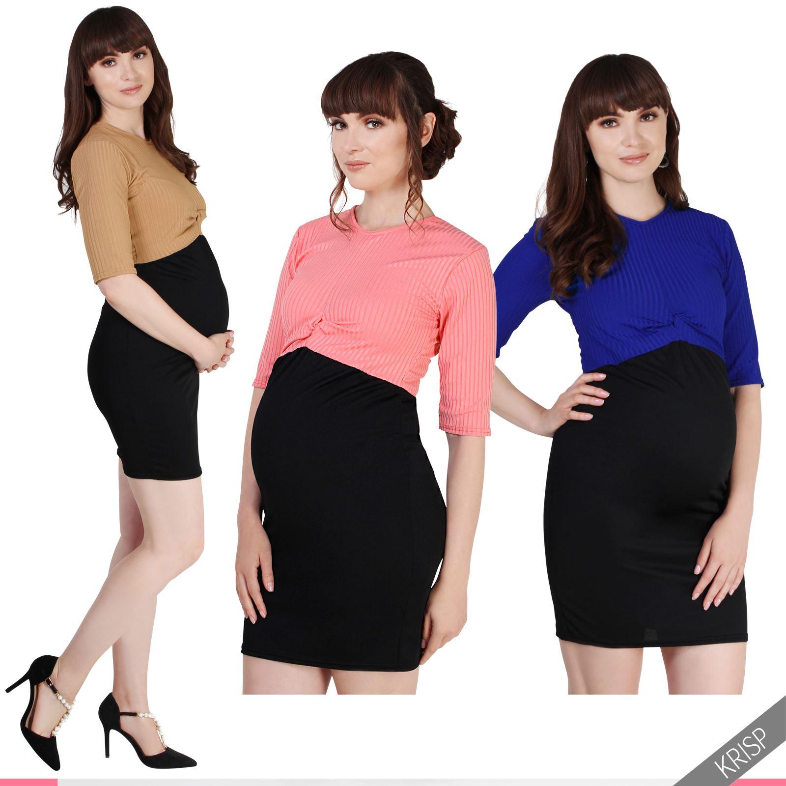 umstandsmode stretch minikleid hohe taille umstandskleid 2in1 einteiler kleid ebay. Black Bedroom Furniture Sets. Home Design Ideas
