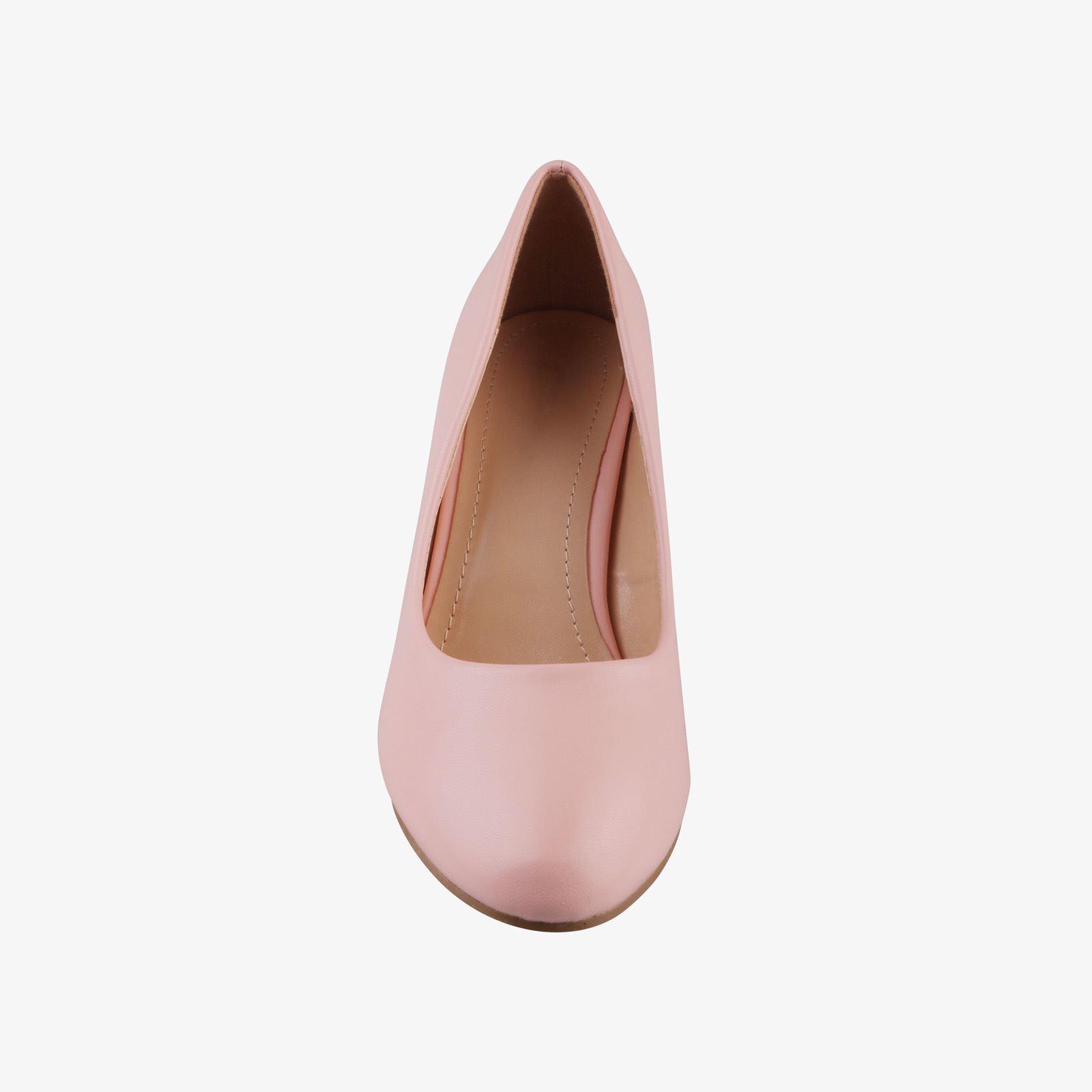 Womens-Ladies-Mid-Heel-Court-Shoes-Slip-On-Low-Kitten-Heels-Pumps-Matte-Size-3-8 thumbnail 19