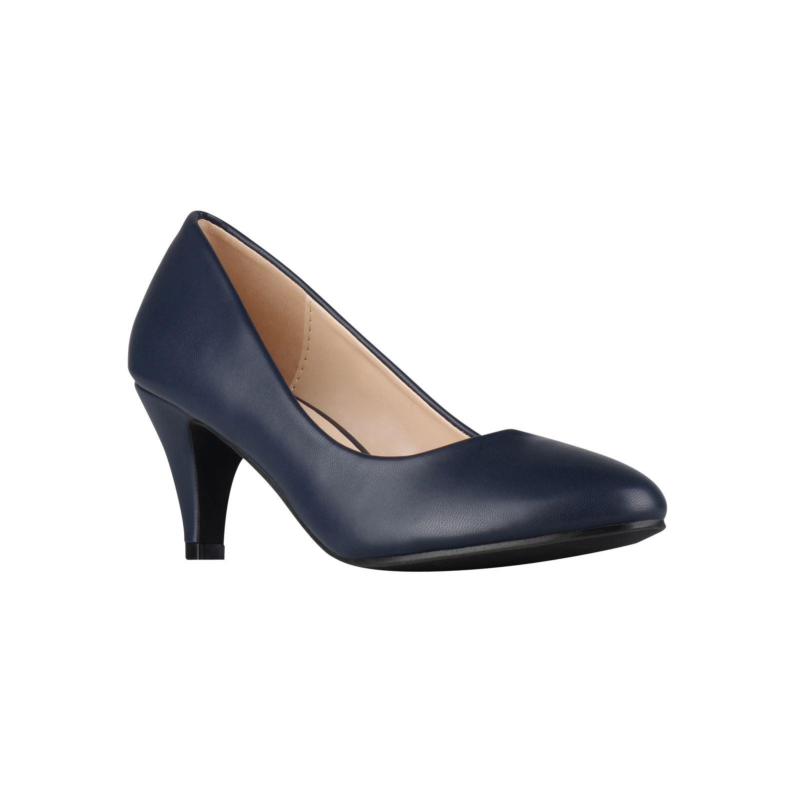 Womens-Ladies-Mid-Heel-Court-Shoes-Slip-On-Low-Kitten-Heels-Pumps-Matte-Size-3-8 thumbnail 13
