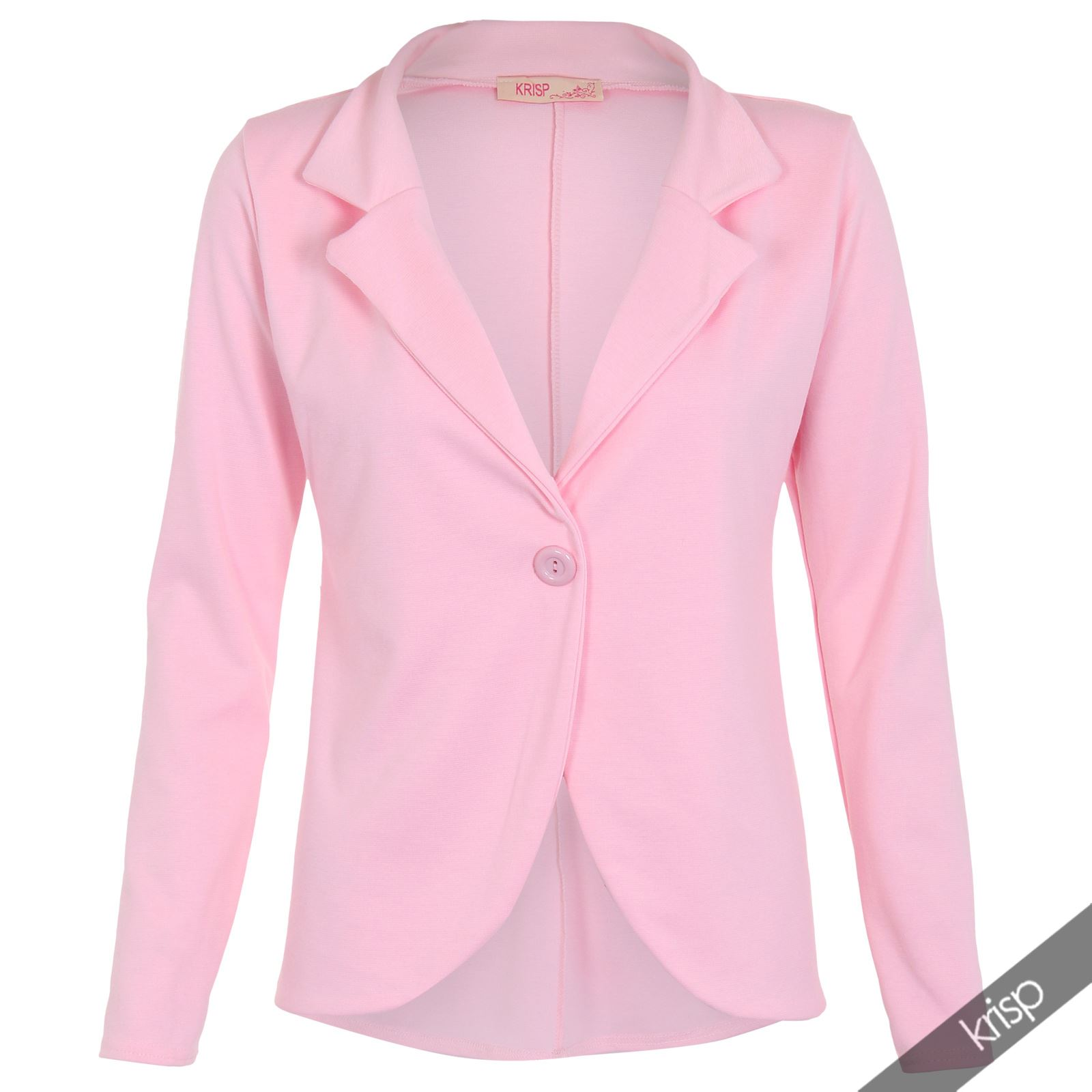 Womens-Jacket-Shrug-Casual-Blazer-Jersey-Smart-Suit-Ladies-Office-Evening-Coat thumbnail 3