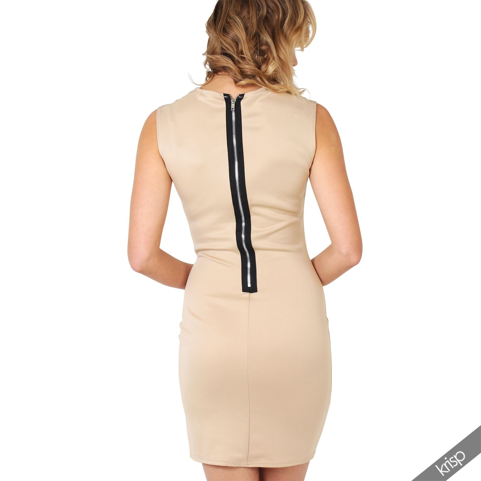 Ladies-Fashion-Bodycon-Dress-Sleeveless-Backless-Party-Fitted-Cocktail-Pencil thumbnail 27