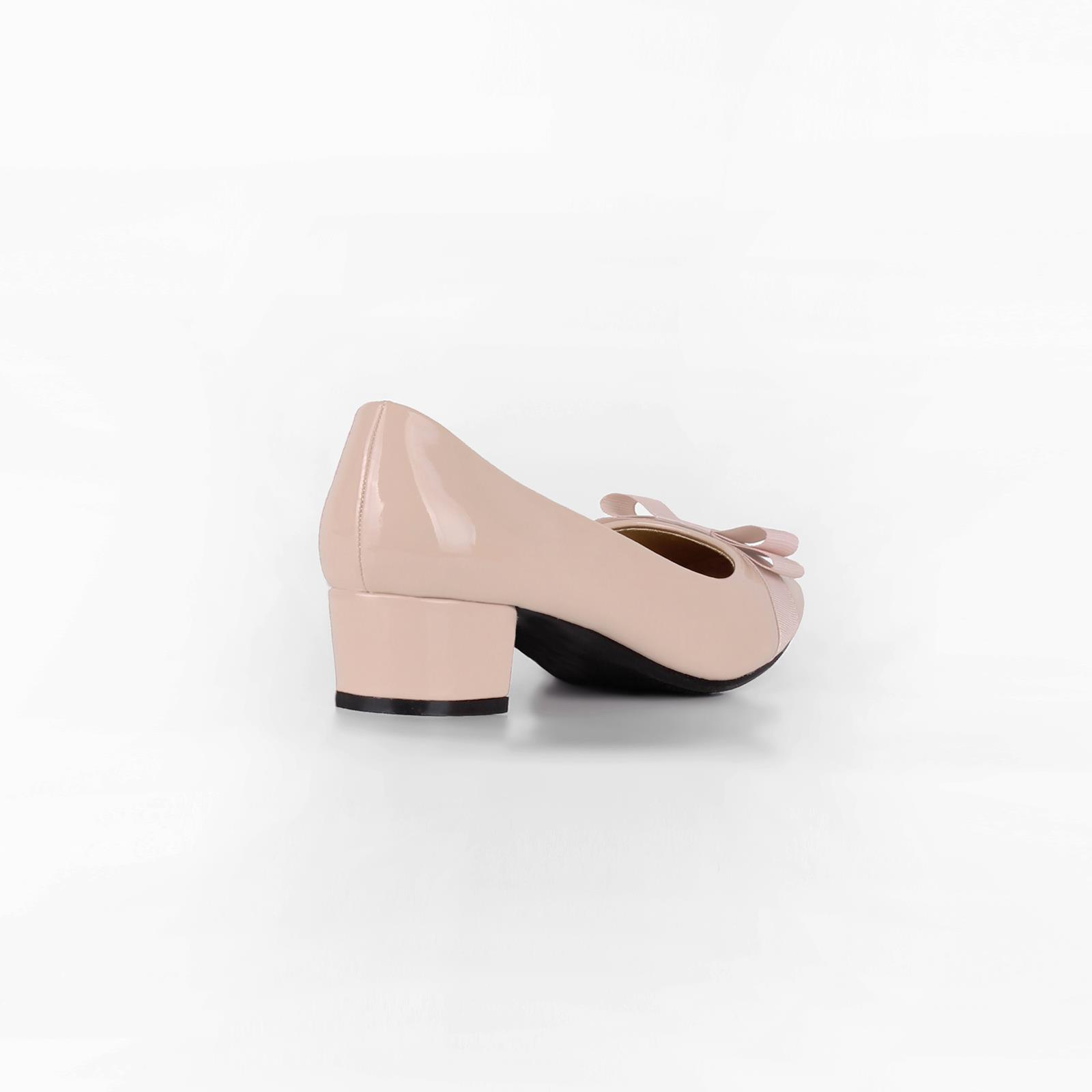 Damen-Elegante-Absatzschuhe-Hochlganz-Pumps-Blockabsatz-Ballerina-Schuhe-Chic Indexbild 35