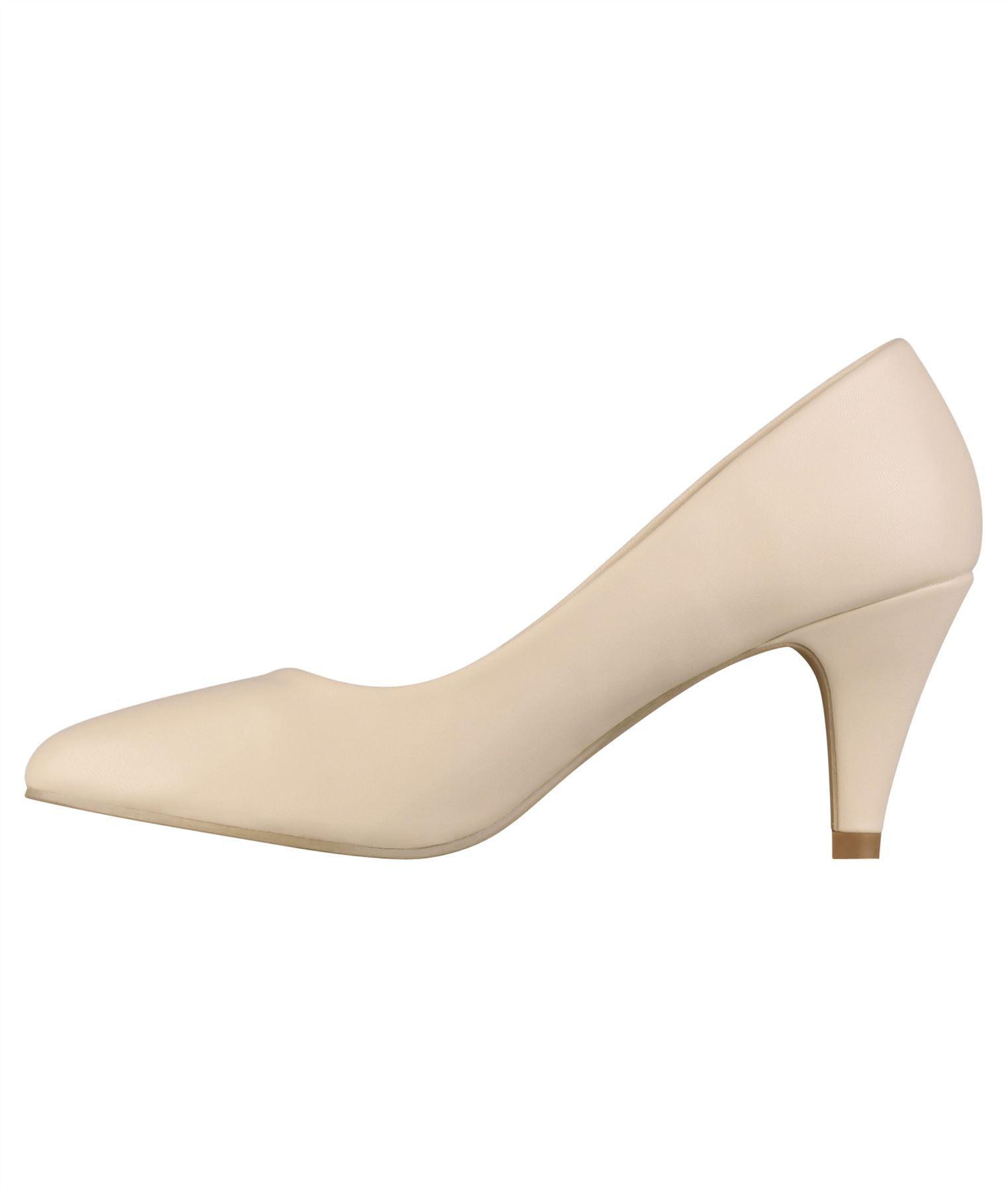 Womens-Ladies-Mid-Heel-Court-Shoes-Slip-On-Low-Kitten-Heels-Pumps-Matte-Size-3-8 thumbnail 6
