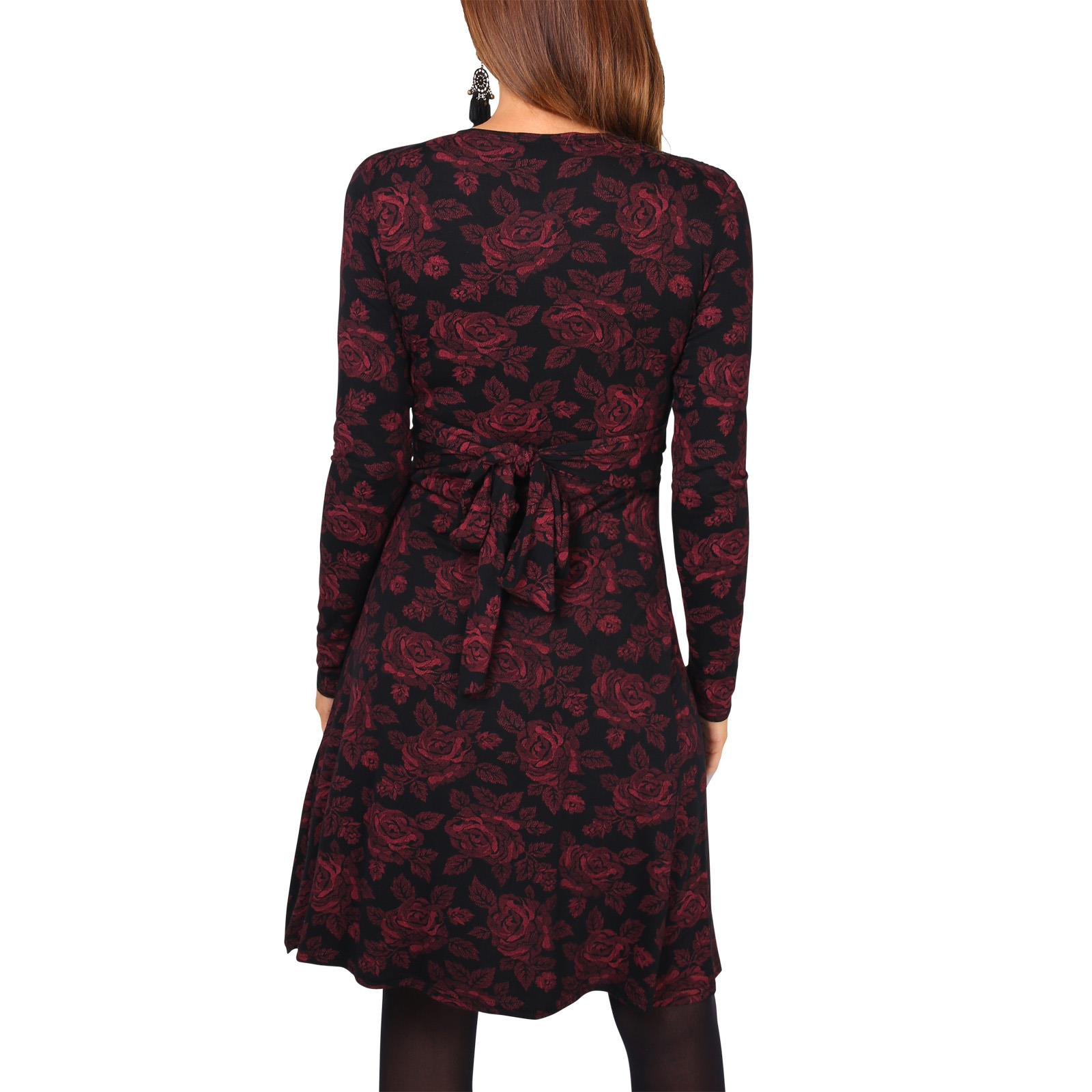 Womens-Ladies-Mini-Dress-Drape-Stretch-Long-Sleeve-Ruched-Twist-Knot-Party-Work thumbnail 94