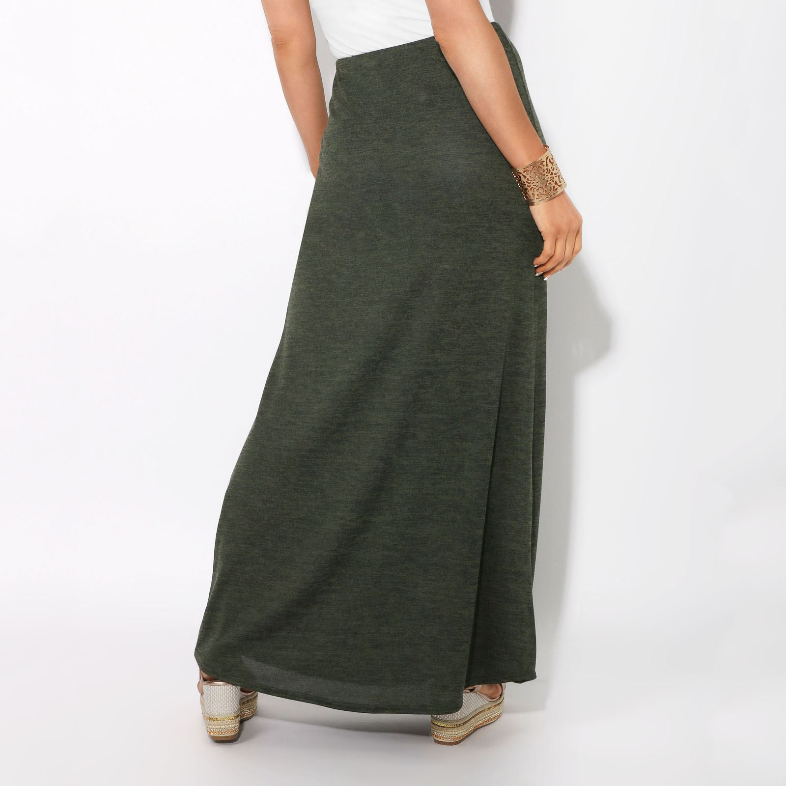 c2ff5a856f Falda Mujer Larga Ajustada Cintura Alta Elástica Elegante Casual ...