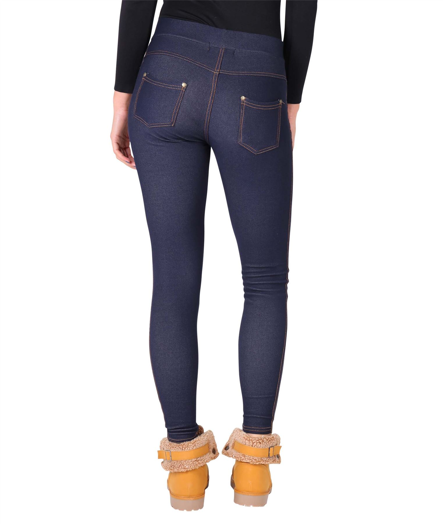 Womens-Warm-Fleece-Lined-Stretch-Denim-Jeans-Thermal-Winter-Leggings-Jeggings thumbnail 24
