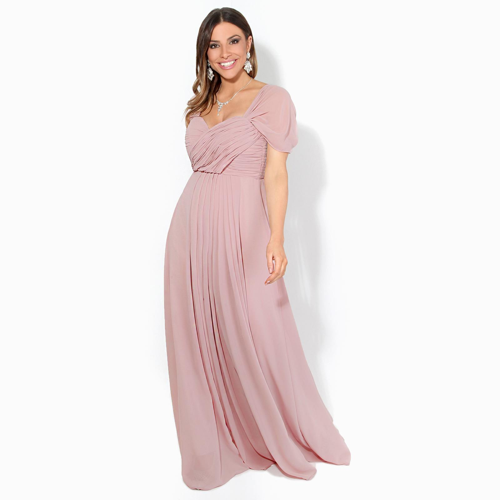 Womens-Bridesmaid-Wedding-Maxi-Prom-Dress-Diamante-Fitted-Long-Fishtail-Party thumbnail 33