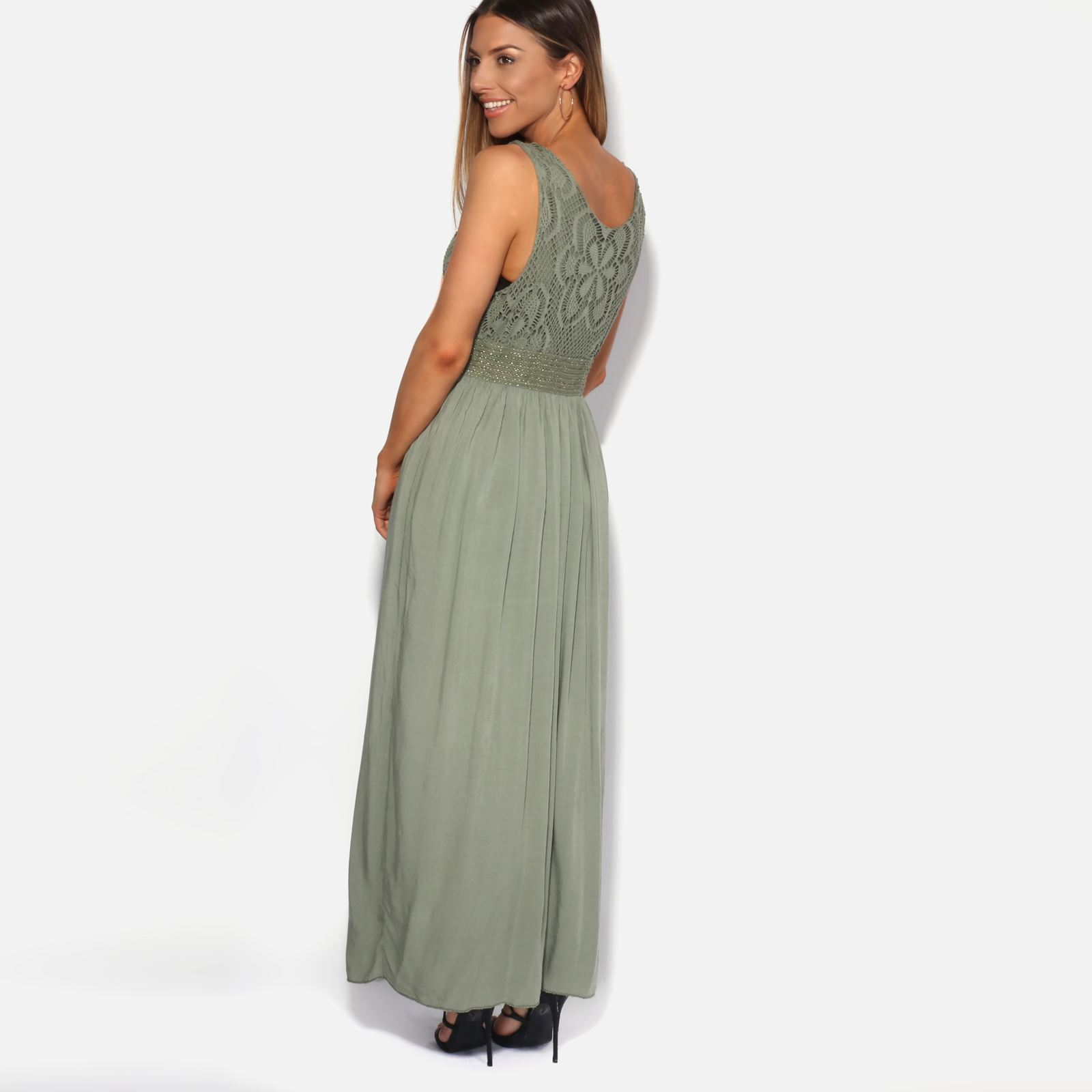 Women-Boho-Maxi-Dress-Gown-Soft-Cotton-Long-Pleated-Flared-Gypsy-Summer-Festival thumbnail 7