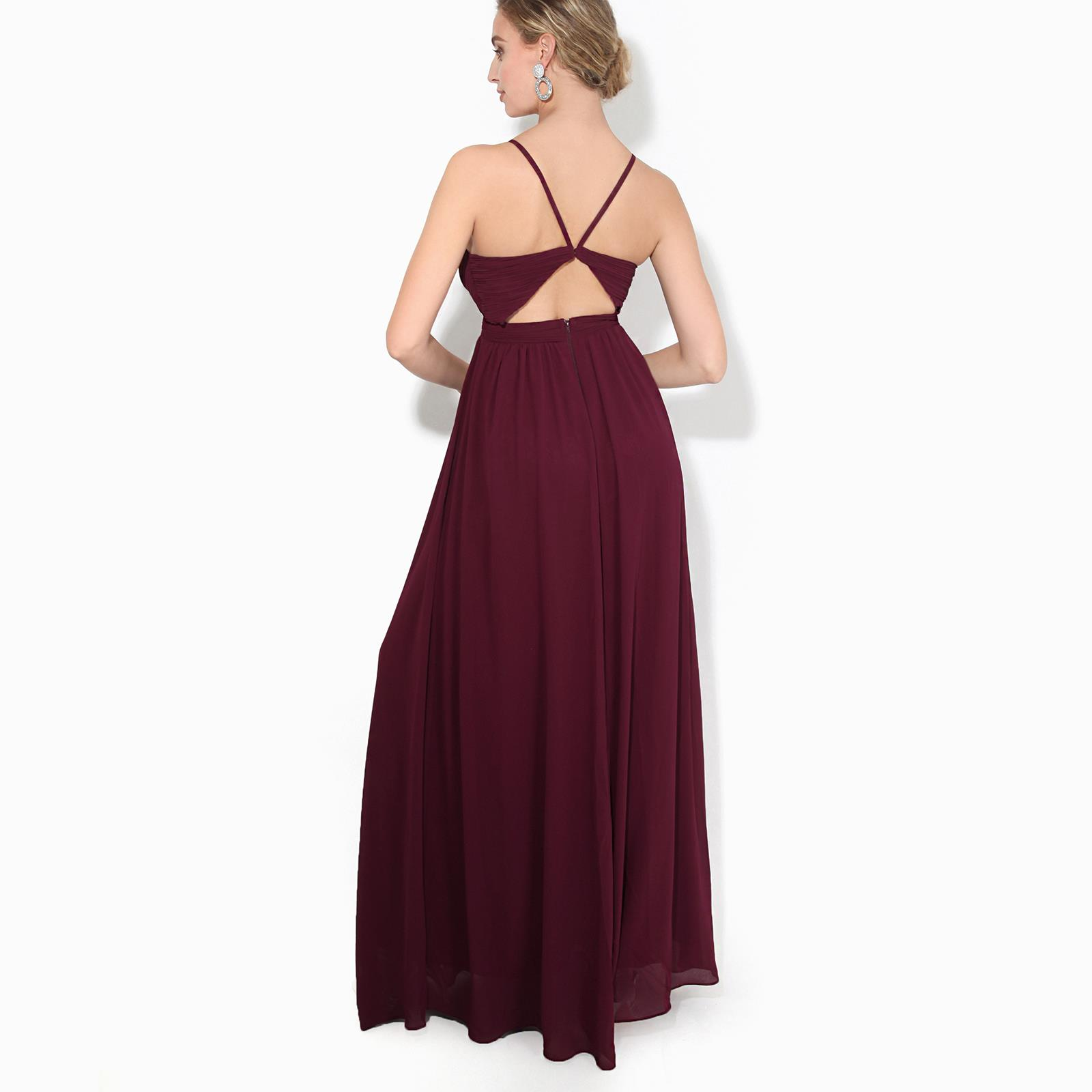 Womens-Ladies-Strappy-Maxi-Dress-Formal-Wedding-Evening-Party-Ball-Gown-Cocktail thumbnail 16