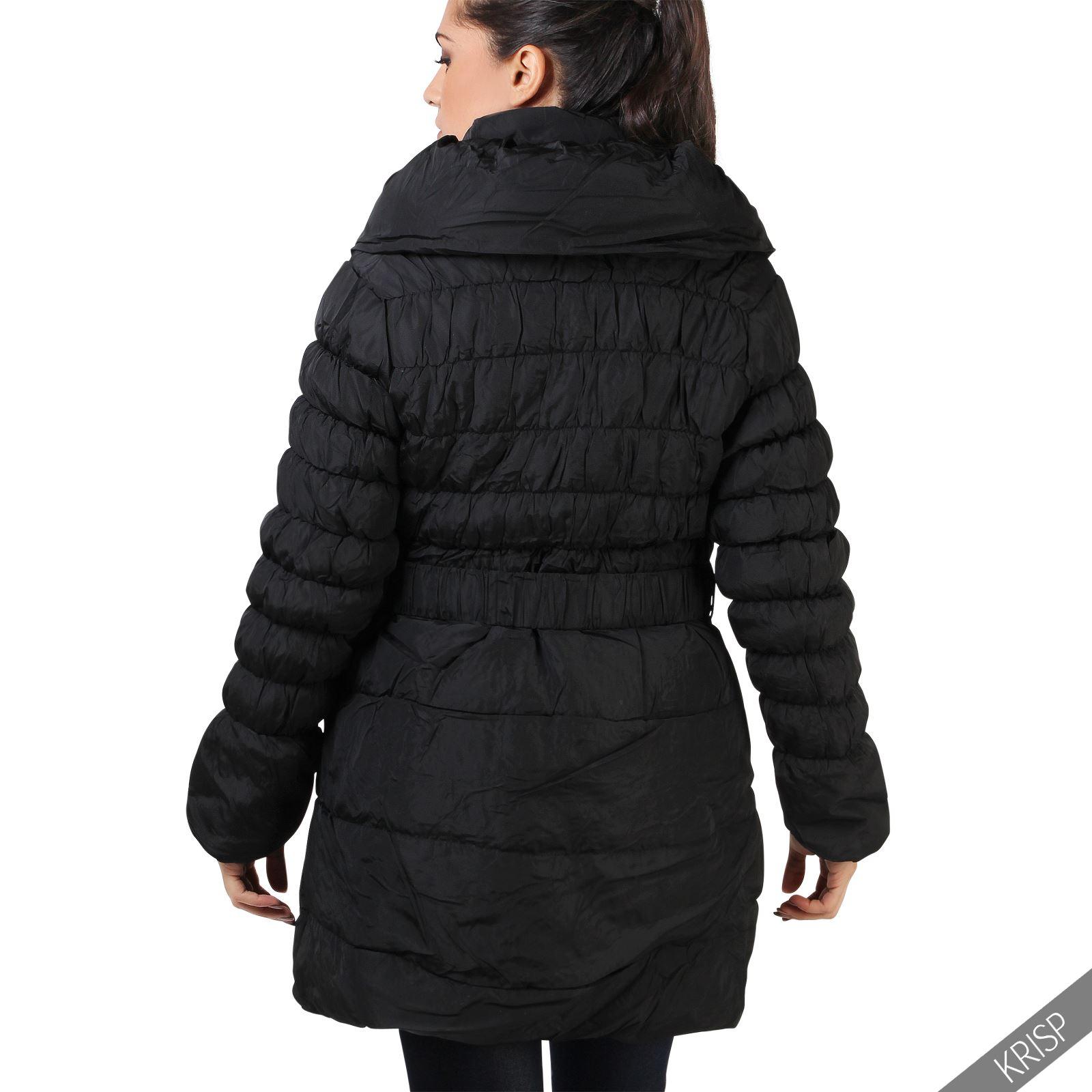damen warme gesteppte winterjacke parka jacke xxl bergr en plus size mantel ebay. Black Bedroom Furniture Sets. Home Design Ideas