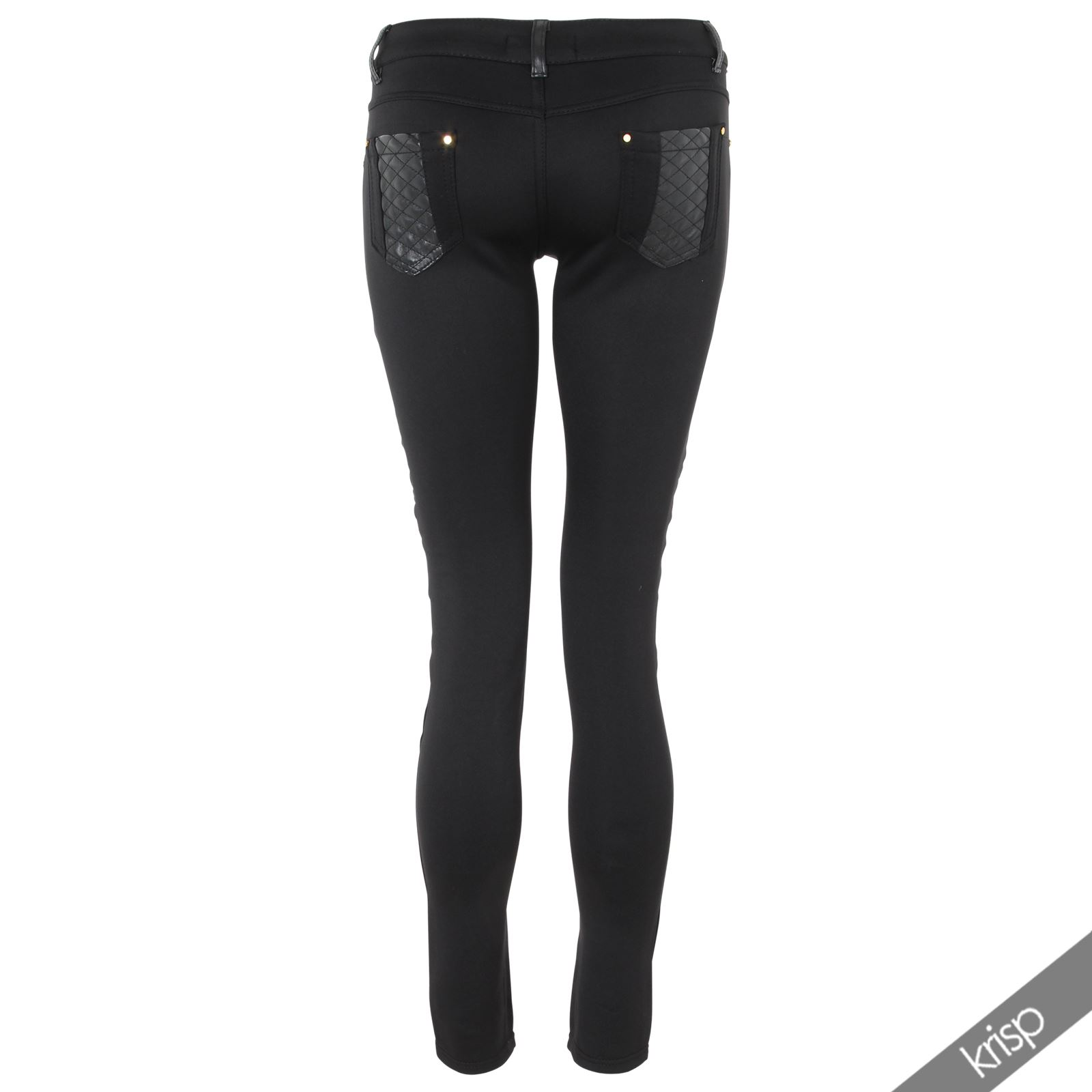 Excellent  Womens Leather Look Trousers High Waist Skinny Legging Jegging Pants