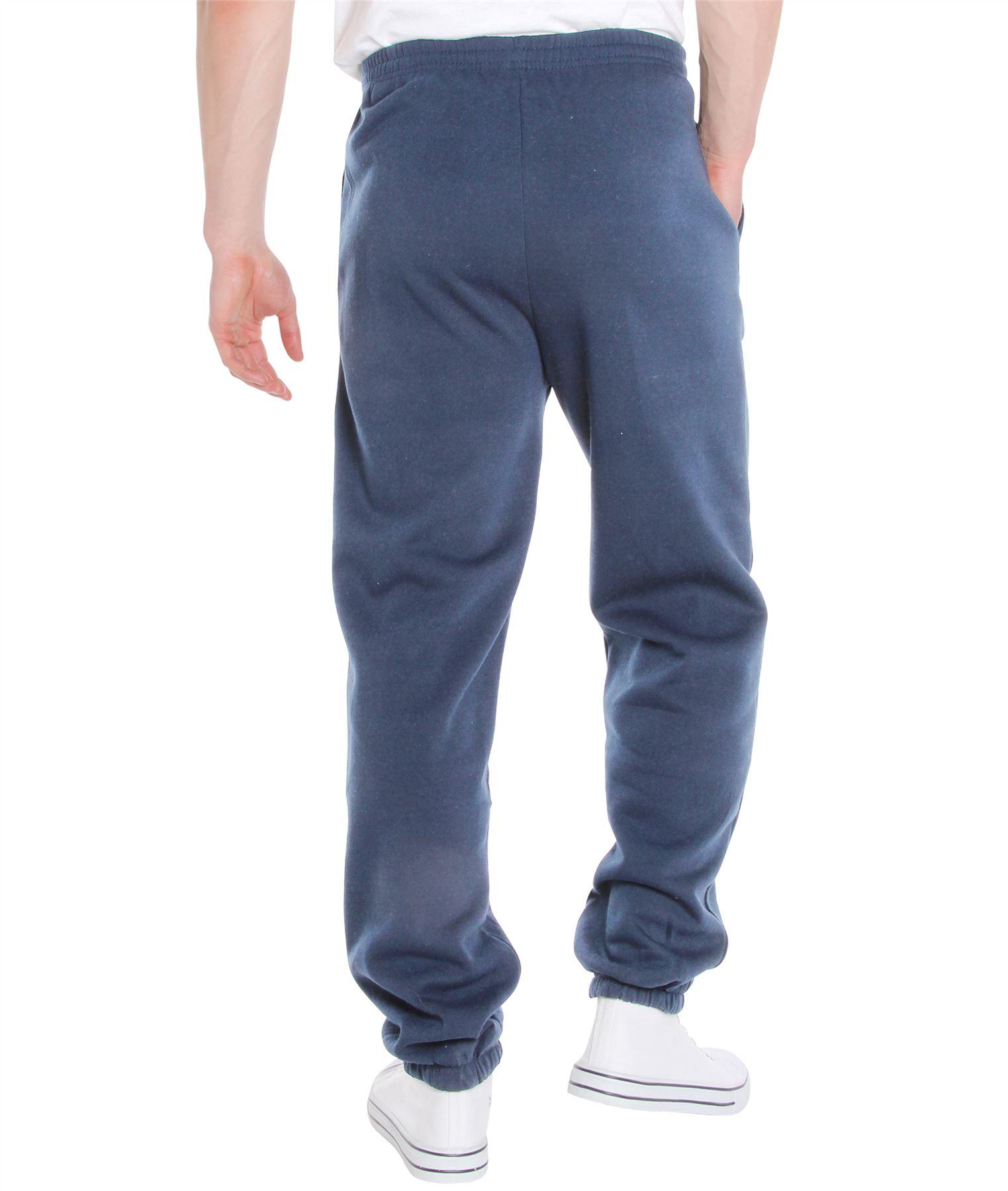 Homme-Pantalon-Double-Polaire-Survetement-Bas-Jogging-Decontracte-Sport-Gym miniature 3