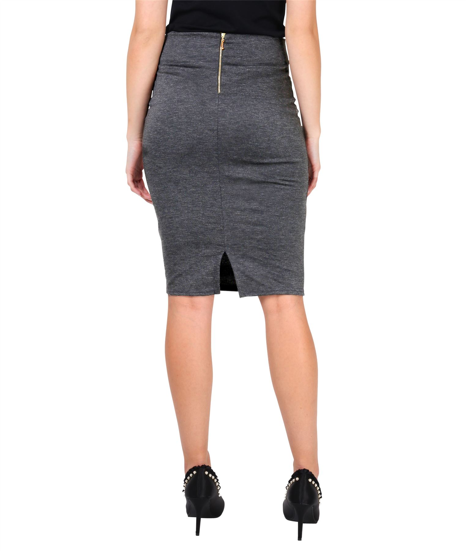 Womens-Ladies-Pencil-Skirt-Midi-Knee-Long-High-Waist-Work-Office-Business-Smart thumbnail 7
