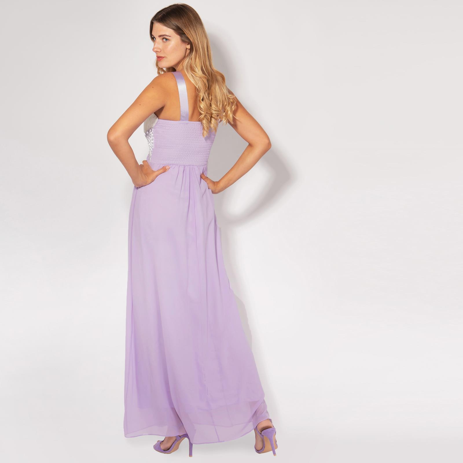 Women-Formal-Diamante-Wedding-Cocktail-Dress-Long-Ball-Gown-Prom-Maxi-Party-8-18 thumbnail 10