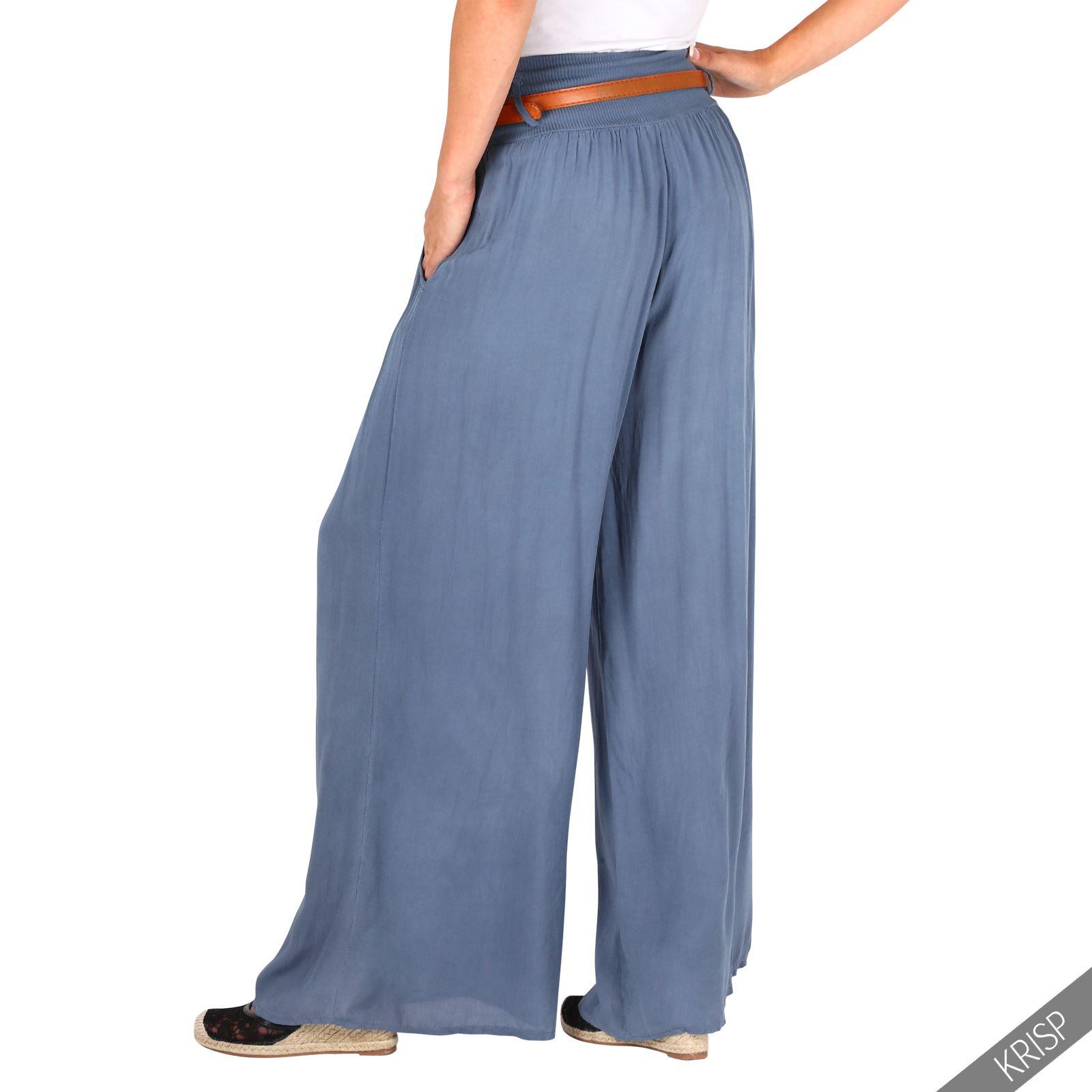 Pantalones-Mujer-Verano-2017-Ancho-Bombachos-Vestir-Algodon-Tela-Elegantes-Moda