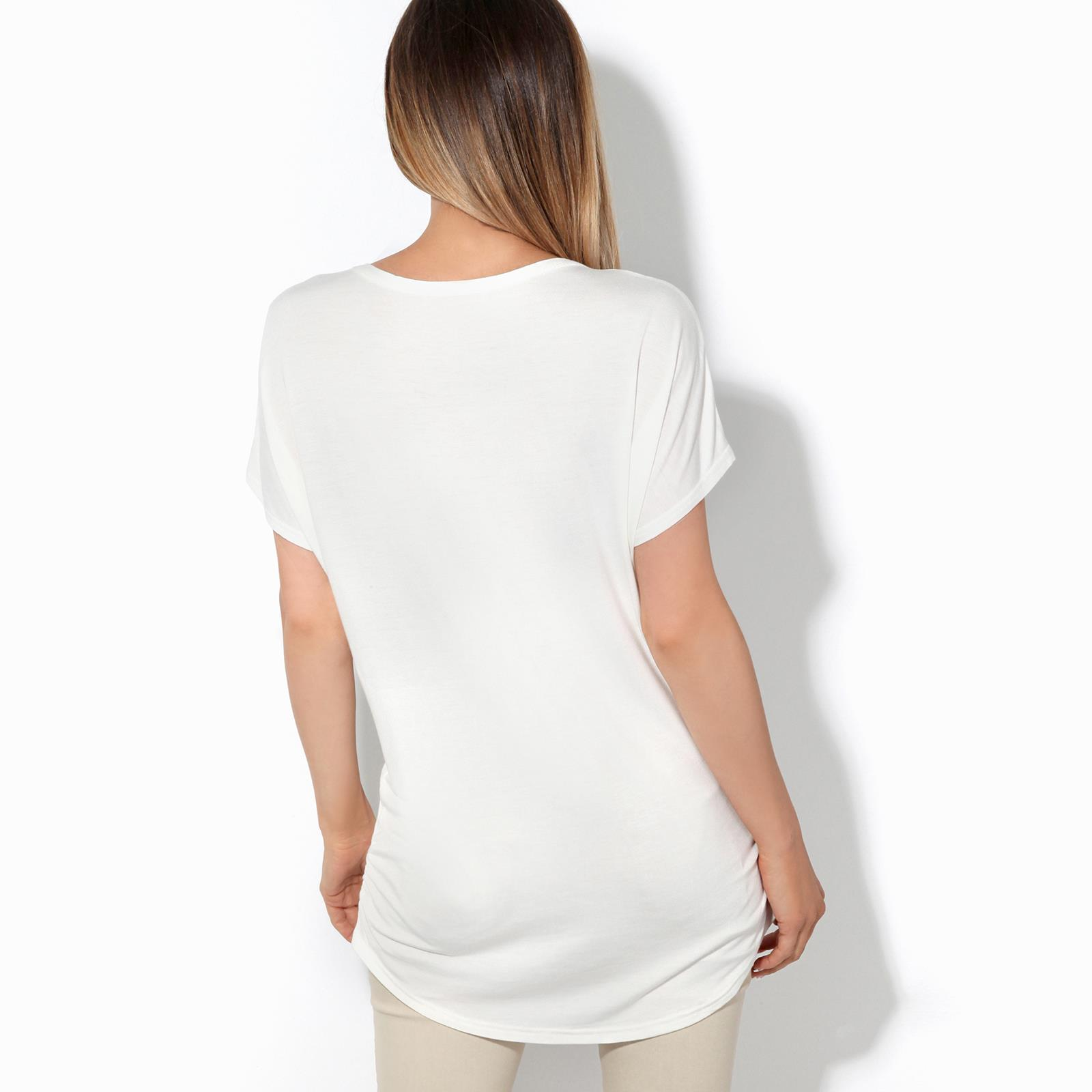 Womens-Loose-Batwing-T-Shirt-Ladies-Animal-Tunic-Blouse-Oversized-Long-Line-Top thumbnail 5