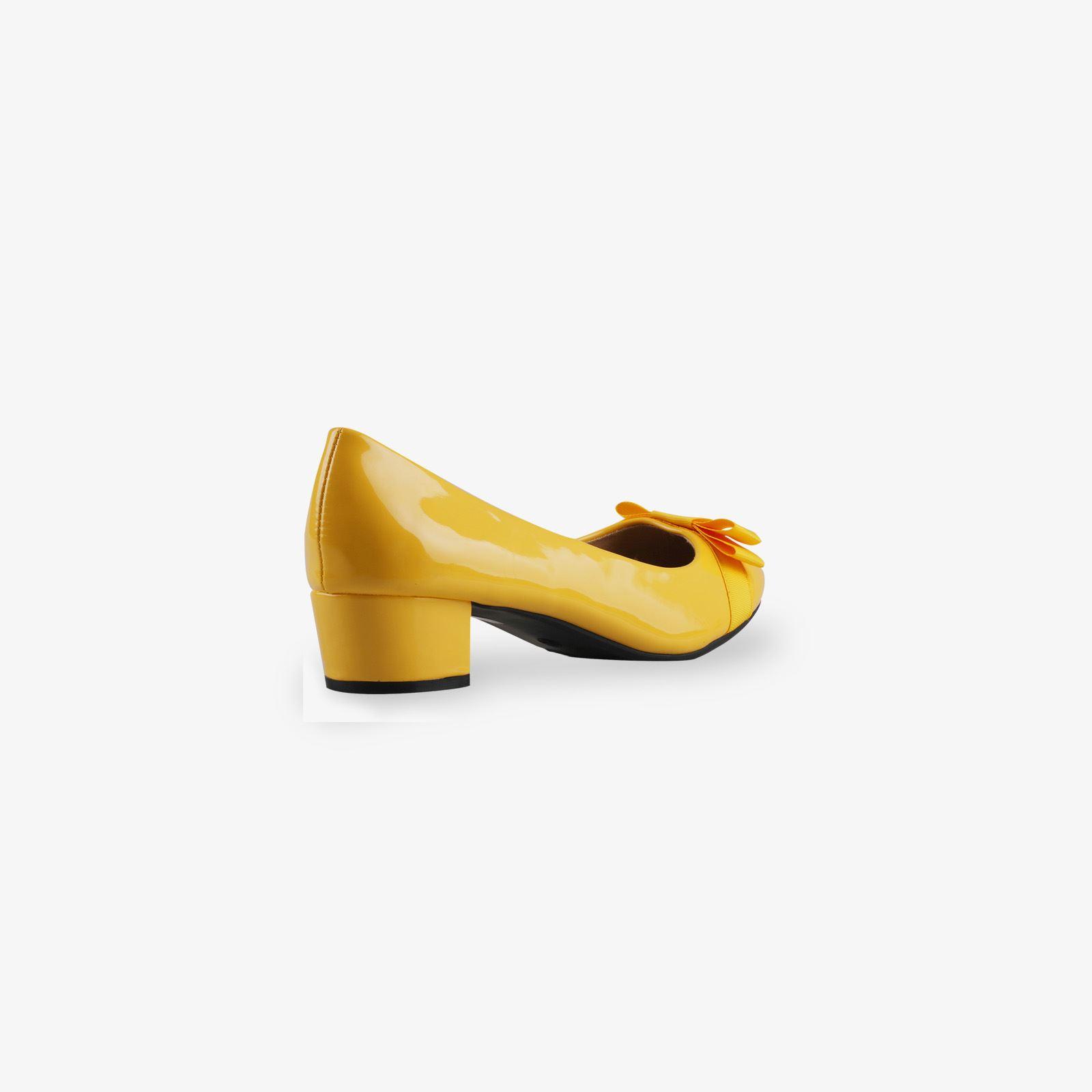 Damen-Elegante-Absatzschuhe-Hochlganz-Pumps-Blockabsatz-Ballerina-Schuhe-Chic Indexbild 9