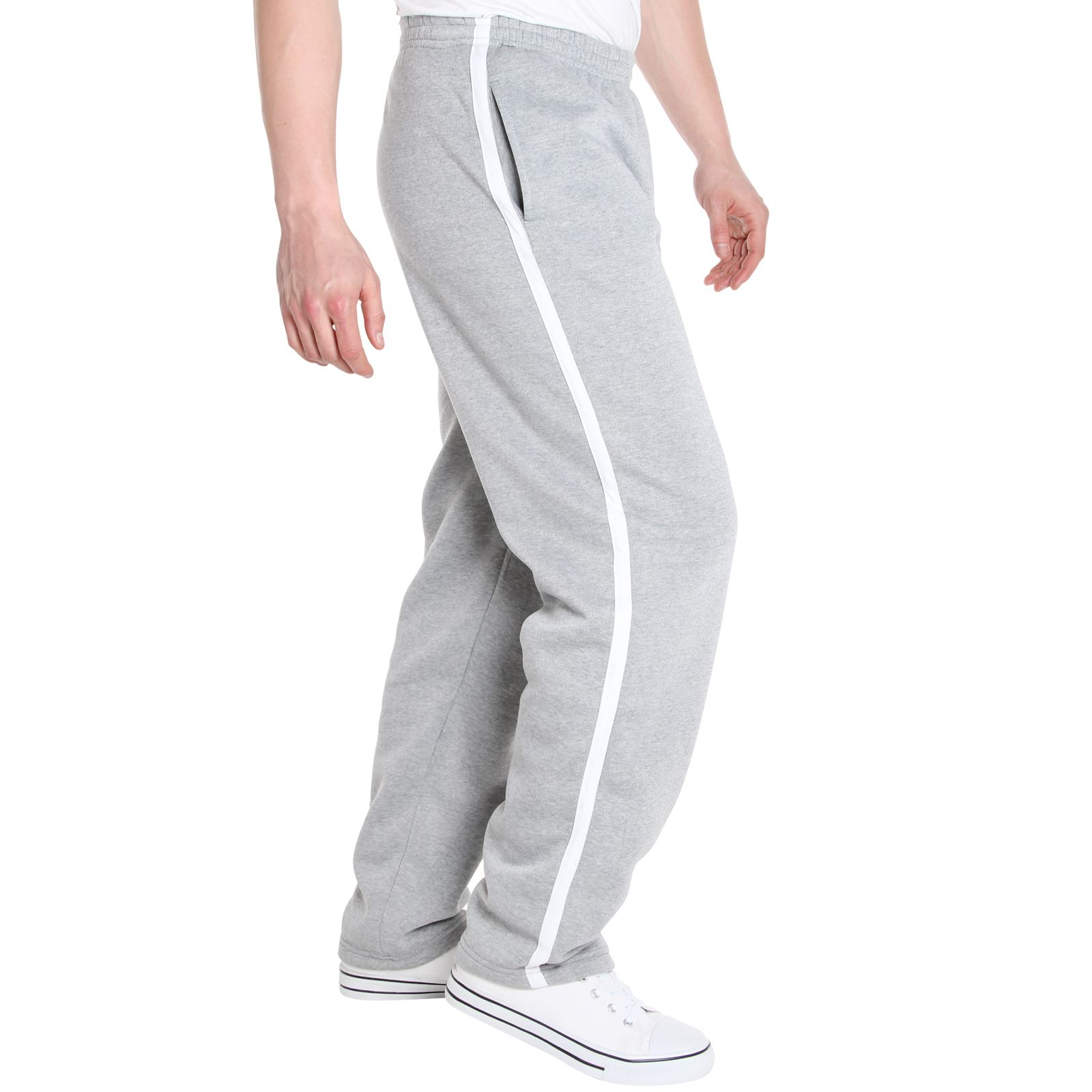 Mens-Tracksuit-Bottoms-Striped-Joggers-Jogging-Trousers-Fleece-Pants-Casual-Work thumbnail 26