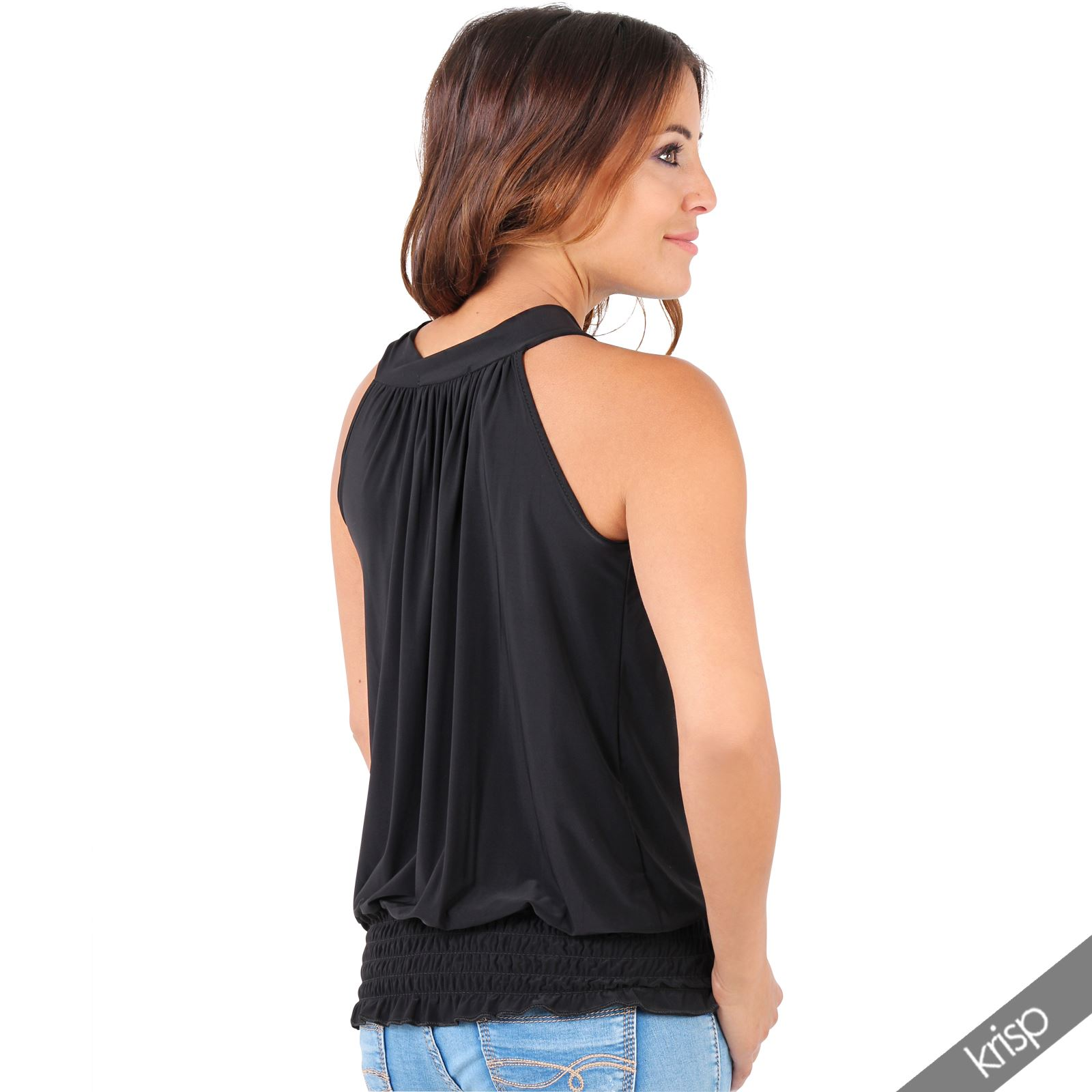 Womens-Ladies-Sleeveless-Blouse-Halter-Neck-Vest-Top-Party-T-Shirt-Plus-Size thumbnail 4