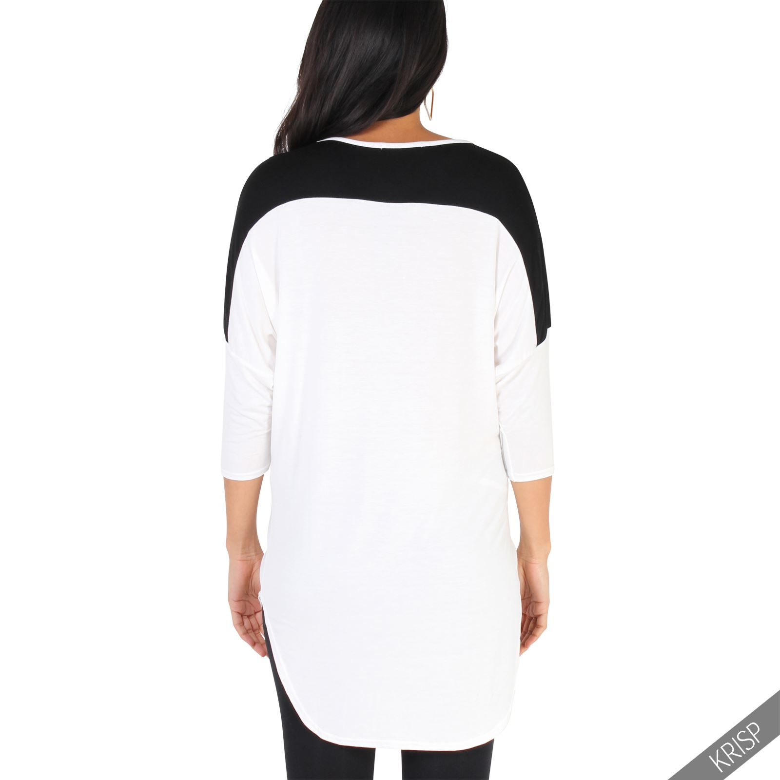 Maternity-Batwing-Baggy-Loose-T-Shirt-Tunic-Top-3-4-Sleeve-Dip-Hem-Long-Casual thumbnail 5