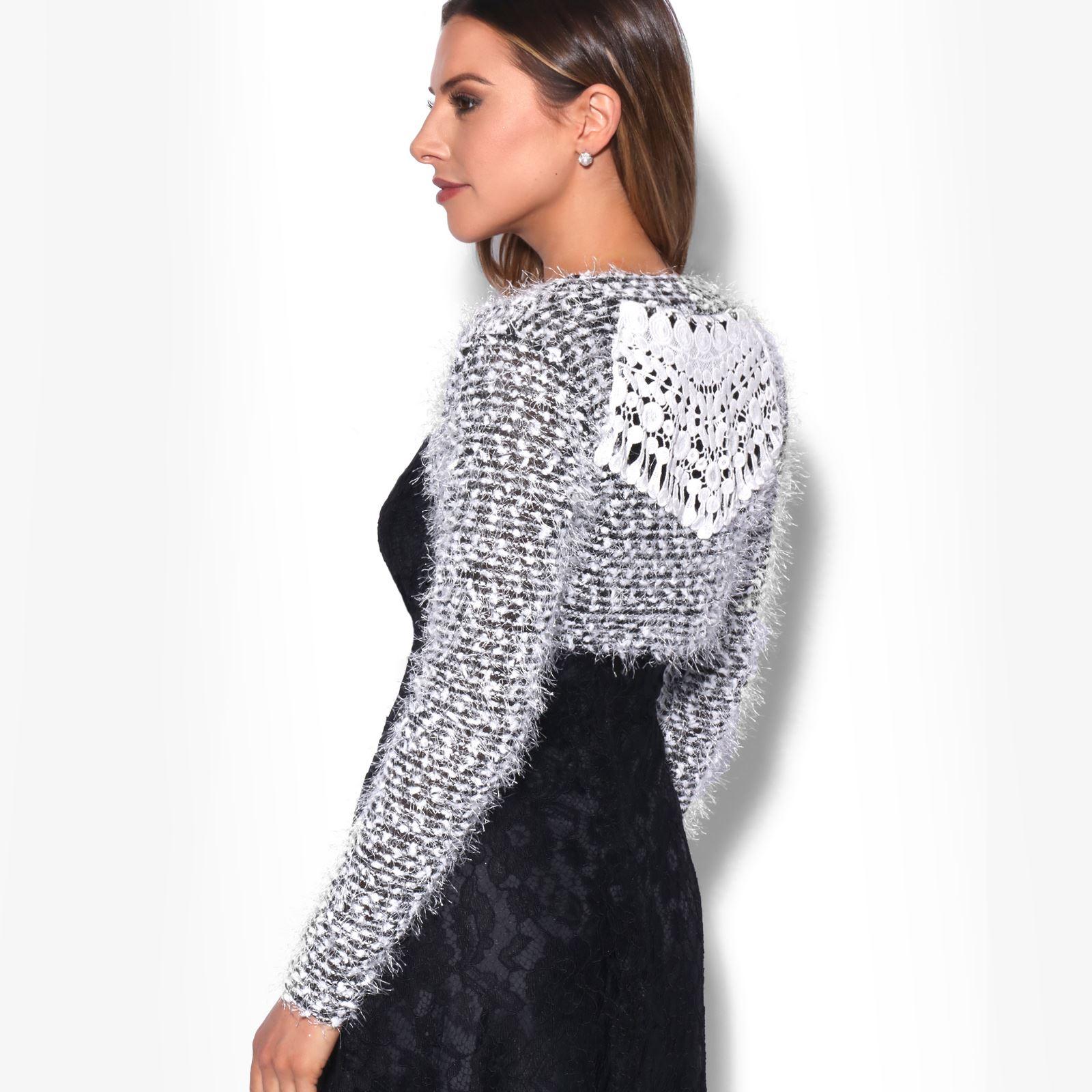 KRISP-Damen-Bolero-Jacke-Kurzes-Jaeckchen-Elegante-Schulterjacke-Blazer-Frauen Indexbild 11