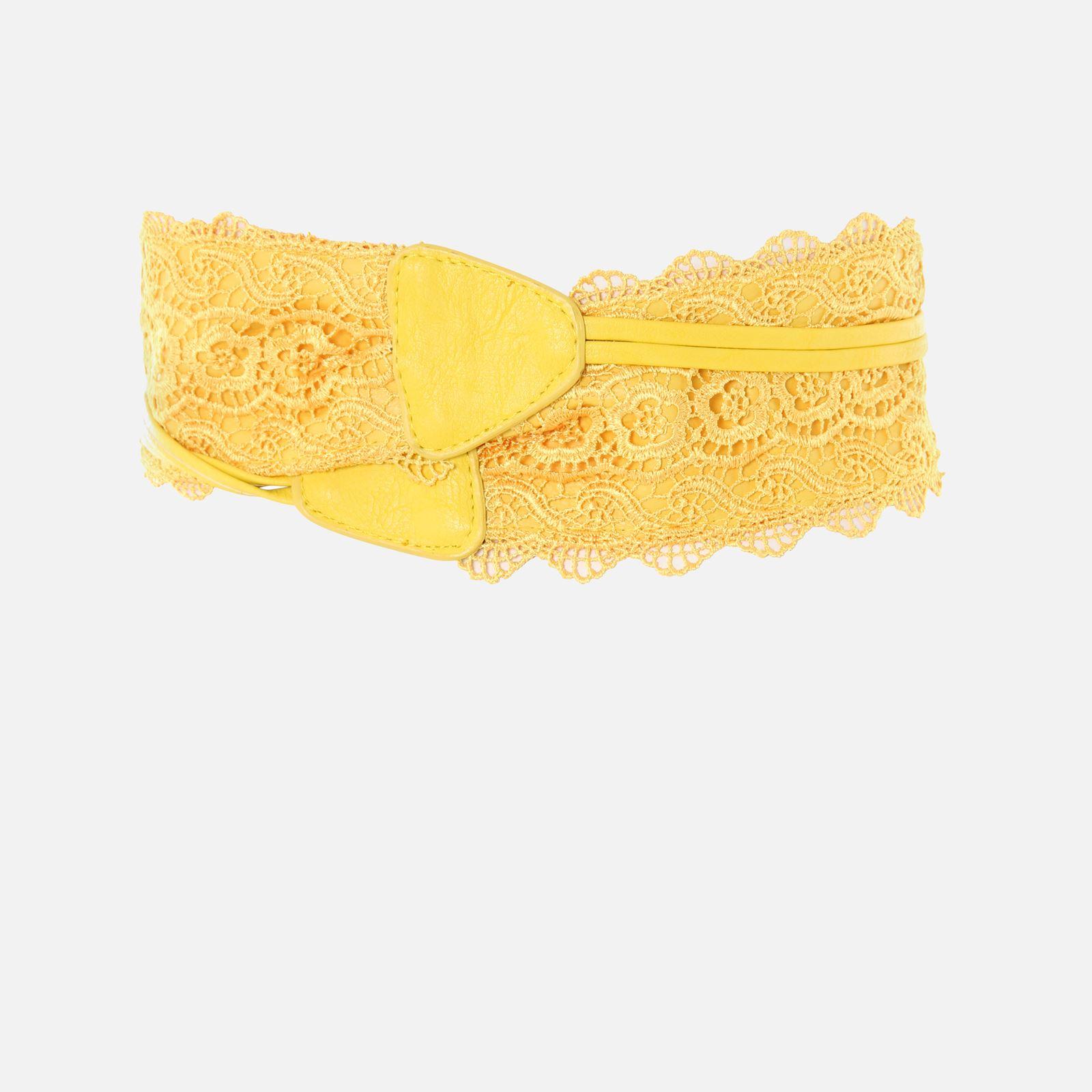 thumbnail 67 - Womens-Ladies-Wide-Waist-Belt-Floral-Waistband-Pattern-Band-Crochet-Lace-Corset