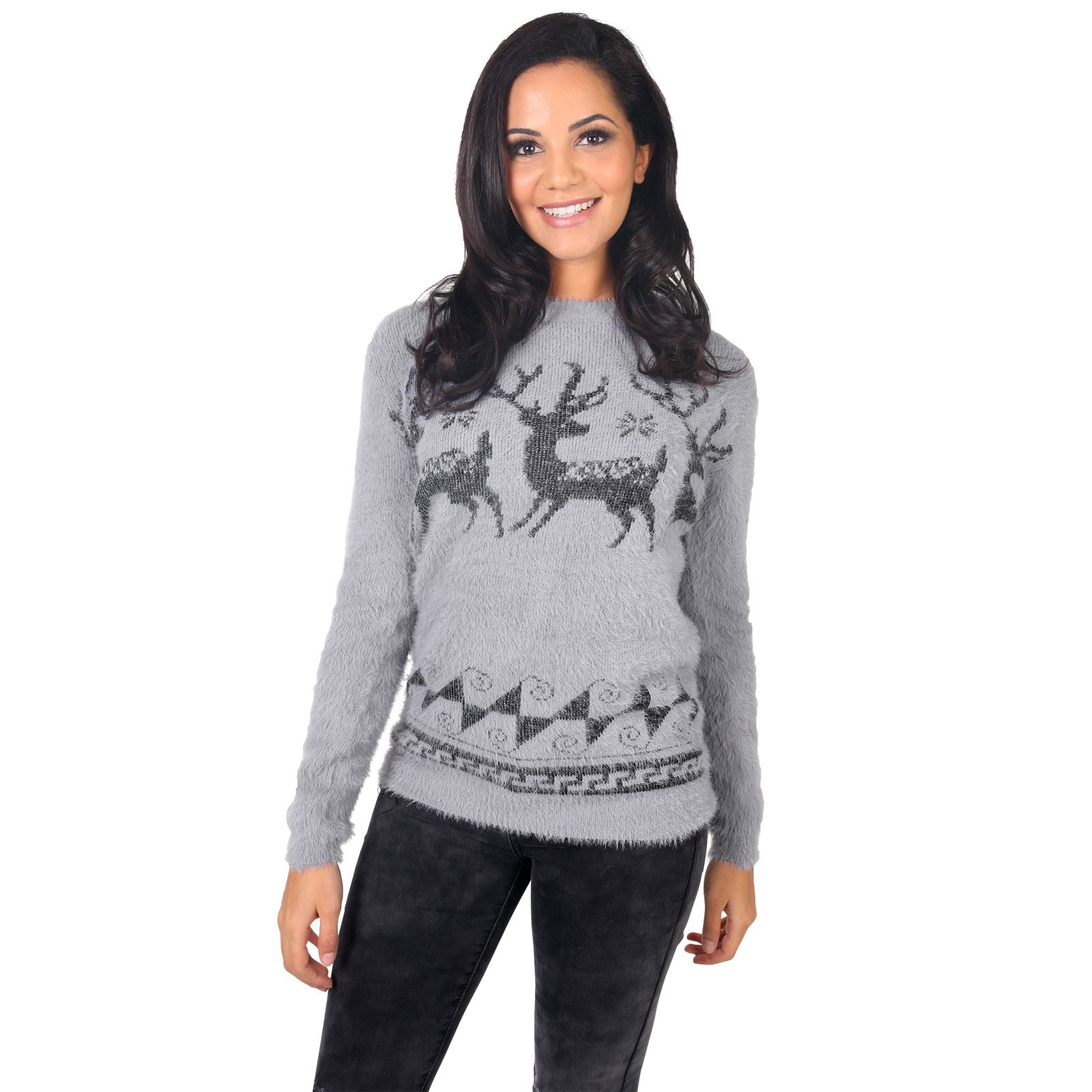 Women's Ugly Christmas Sweaters. Looking for a women's ugly Christmas sweater? Check out our stunning pics of the sweater-wearing beauties! And guys, if your wife or girlfriend catches you staring way too long just claim you're picking out a sweater for her and you want to ensure the details are correct!