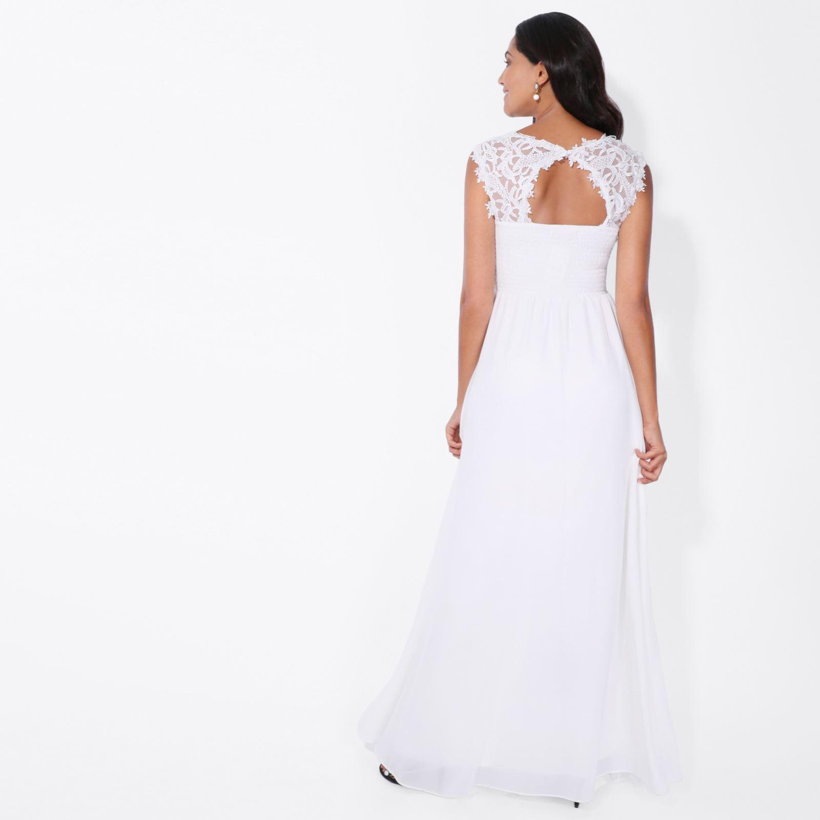 Womens-Wedding-Bridesmaid-Prom-Dress-Formal-One-Off-Shoulder-Long-Evening-8-18 thumbnail 76