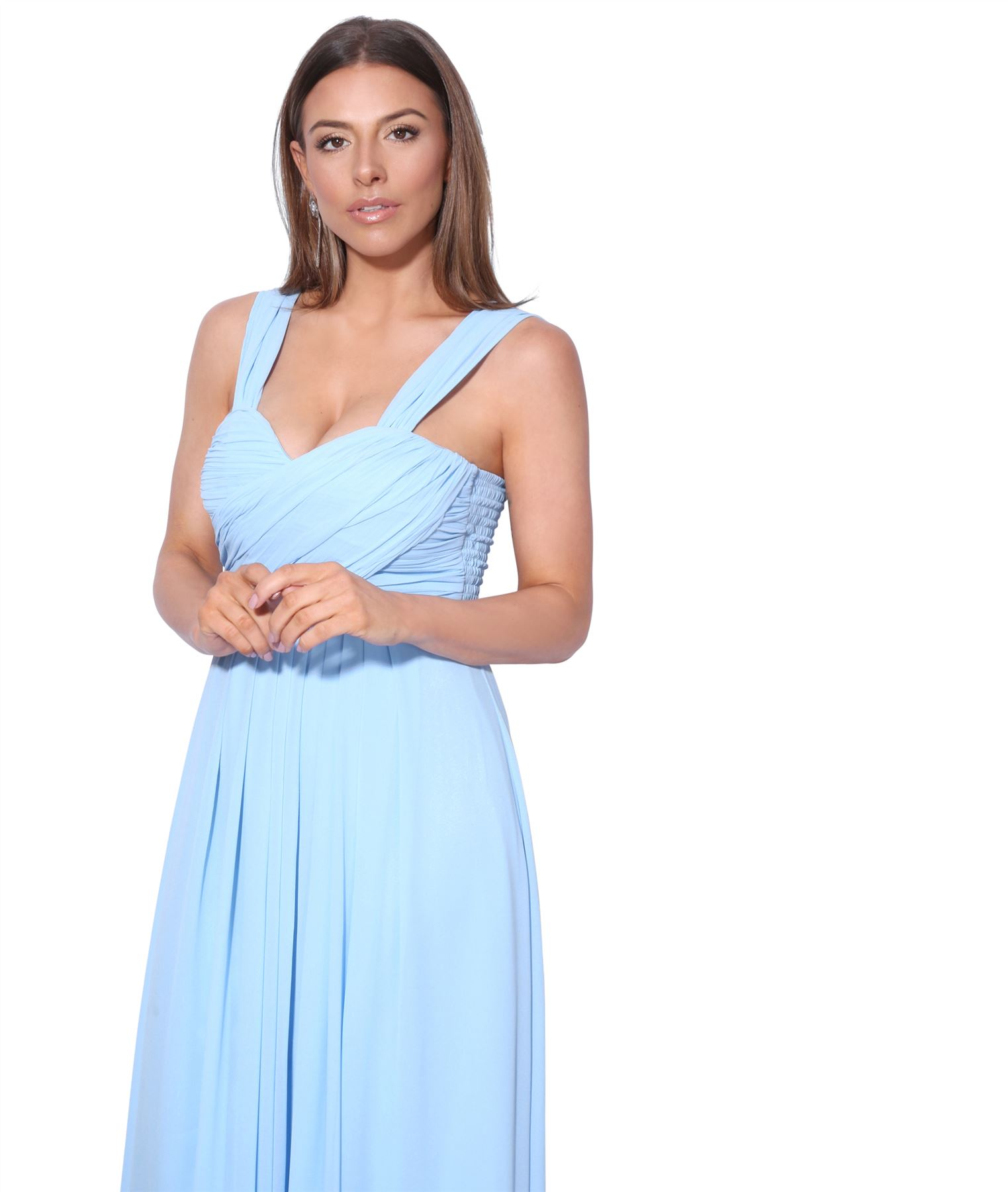 Womens-Formal-Evening-Wedding-Maxi-Prom-Dress-Long-On-Off-Shoulder-Ball-Gown thumbnail 5
