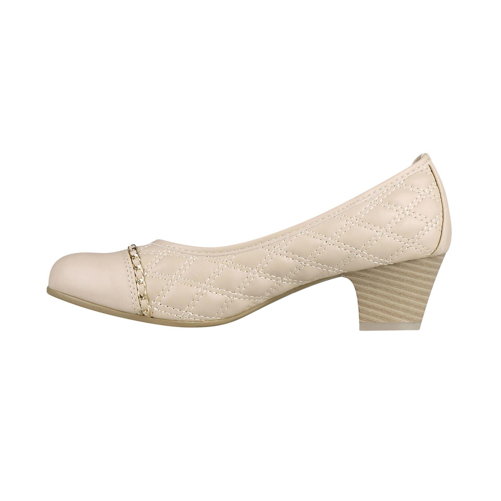 Damen Frauen Steppnähte Kitten-Heel Absatz Pumps Elegante Business Büro Schuhe